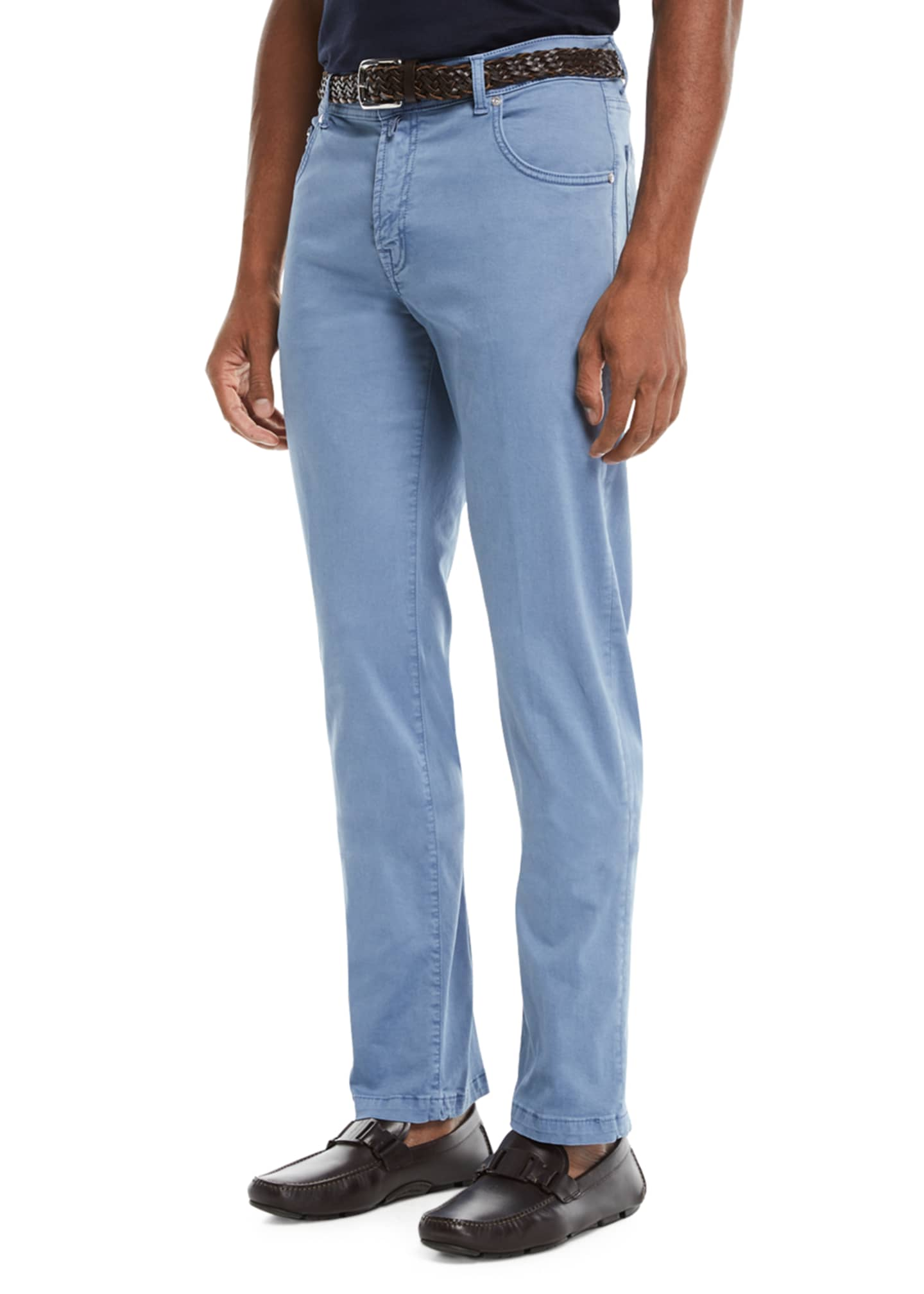 Image 1 of 3: Men's Straight-Leg Twill Pants