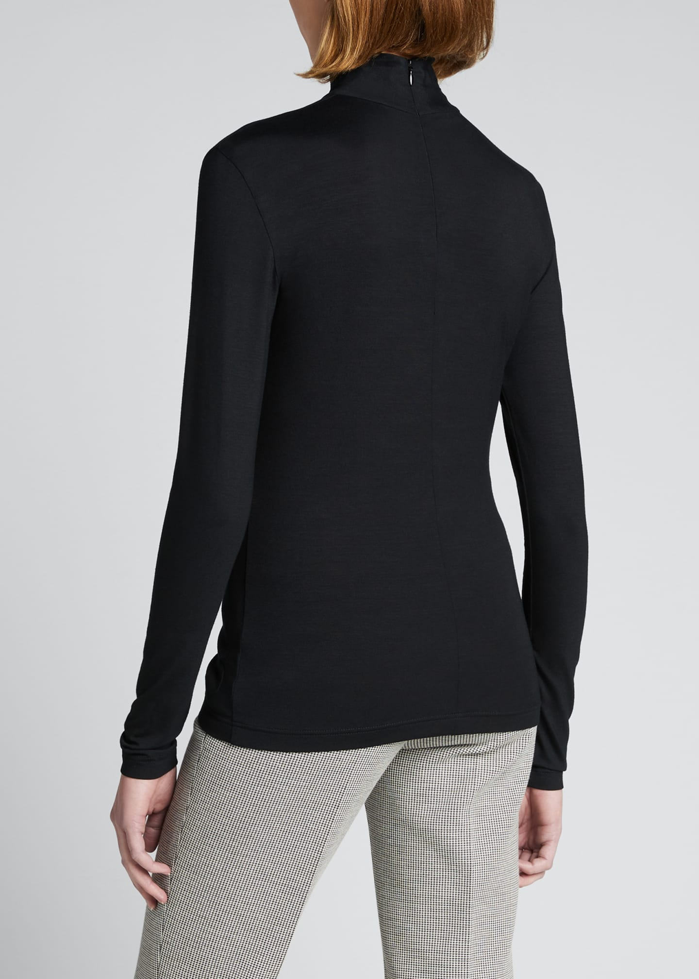 Image 2 of 3: Turtleneck Long-Sleeve Modal-Stretch Top