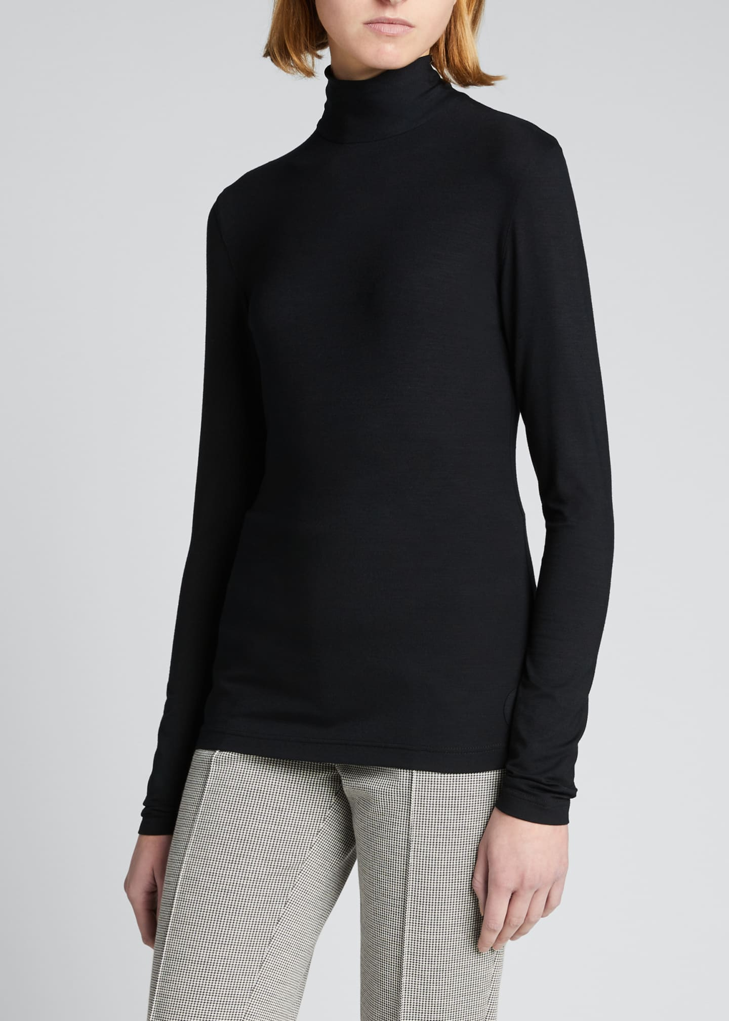 Image 3 of 3: Turtleneck Long-Sleeve Modal-Stretch Top