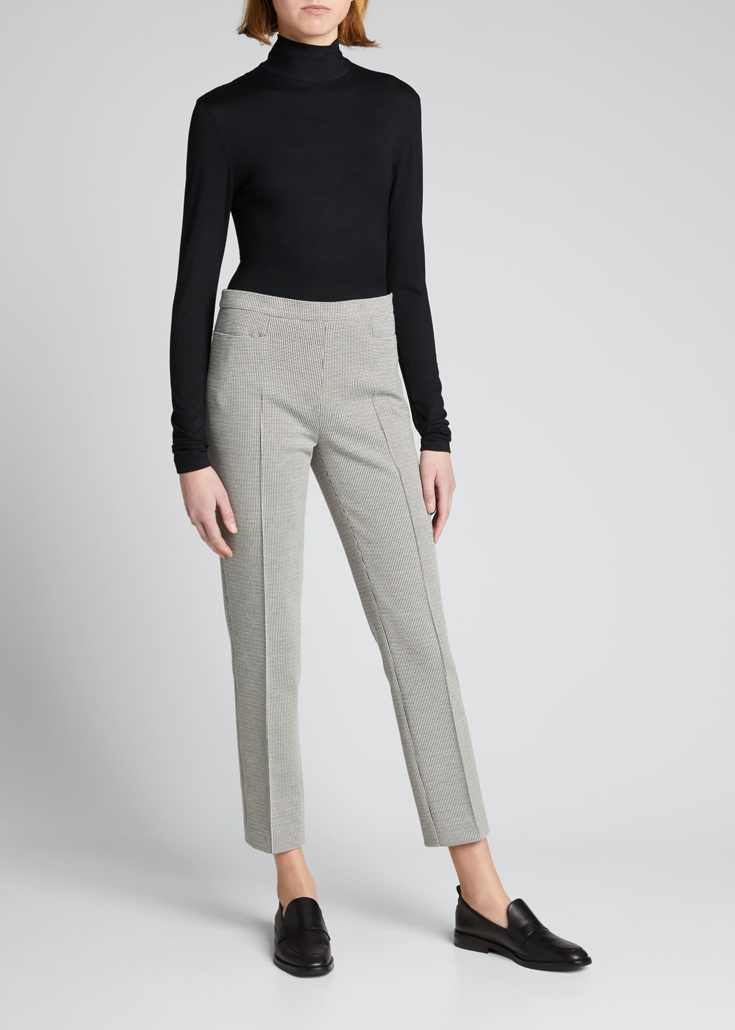 Image 1 of 3: Turtleneck Long-Sleeve Modal-Stretch Top