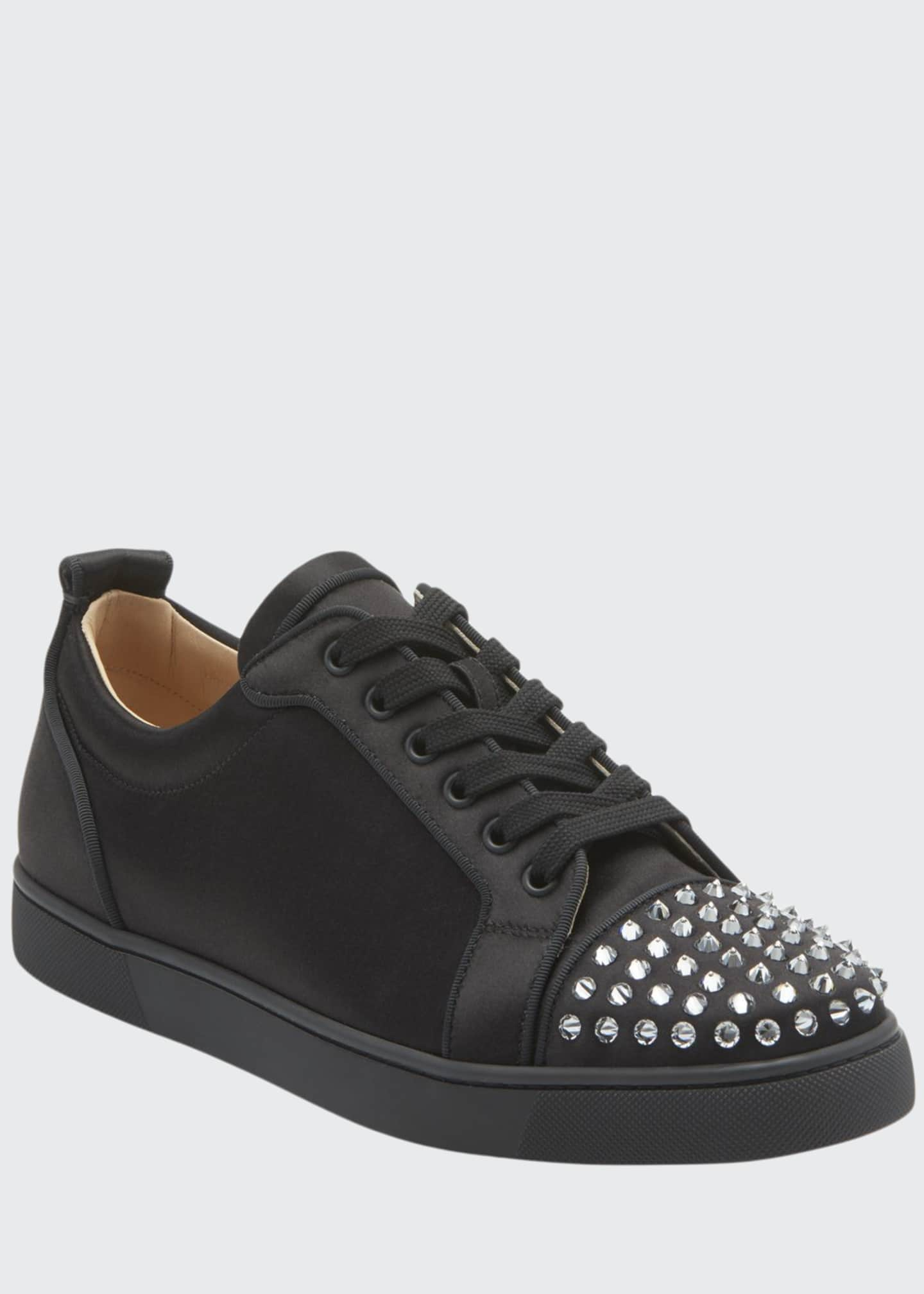 Christian Louboutin Men's Louis Junior Spikes Red Sole