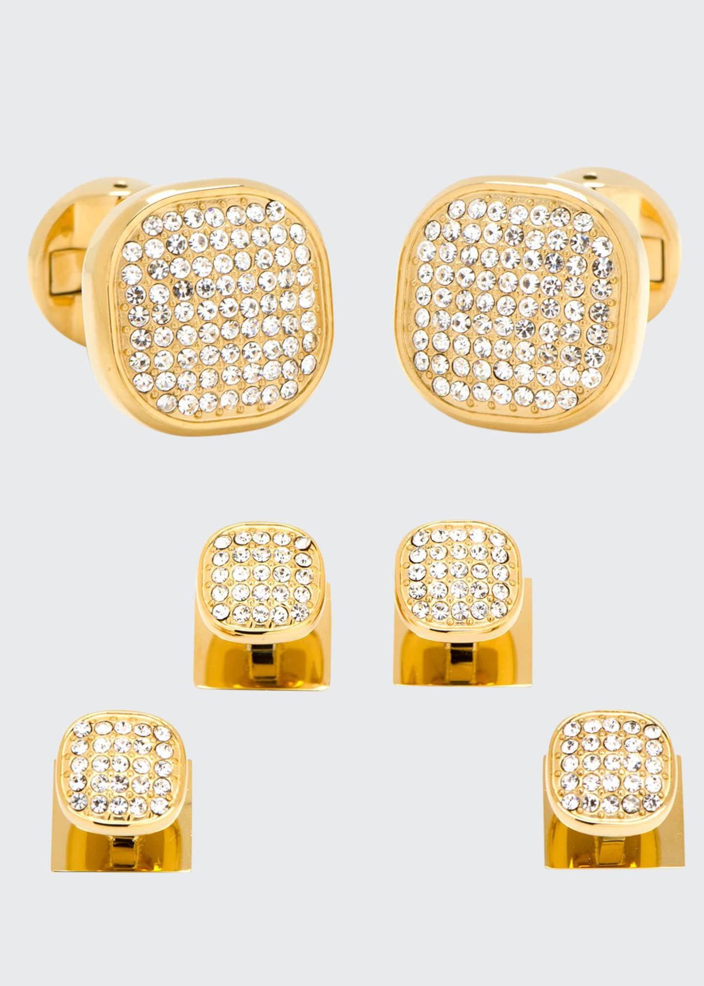 Cufflinks Inc. White Preciosa Pave Cuff Links &