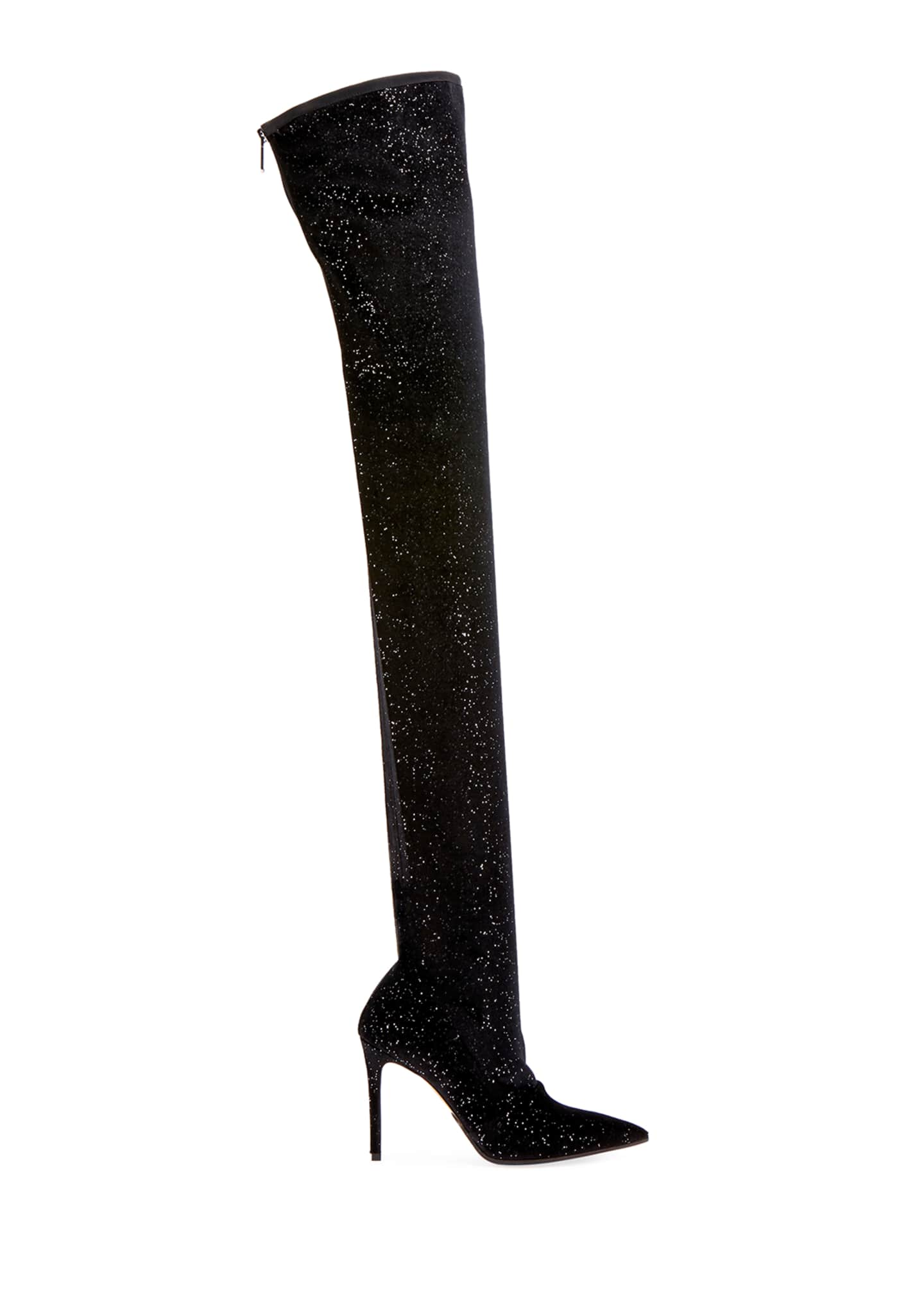Image 2 of 3: Amazone Glitter Over-The-Knee Boot