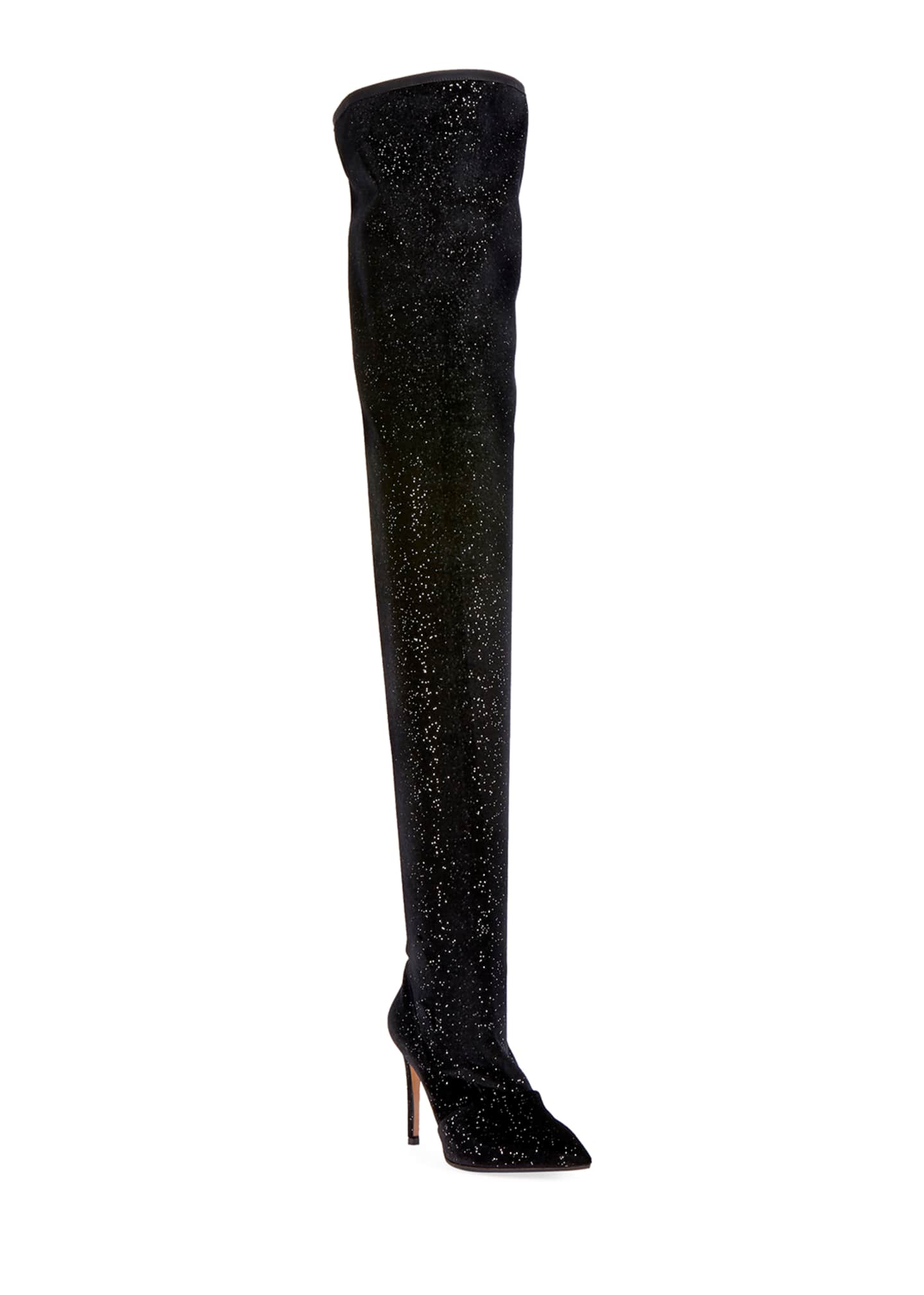Image 1 of 3: Amazone Glitter Over-The-Knee Boot