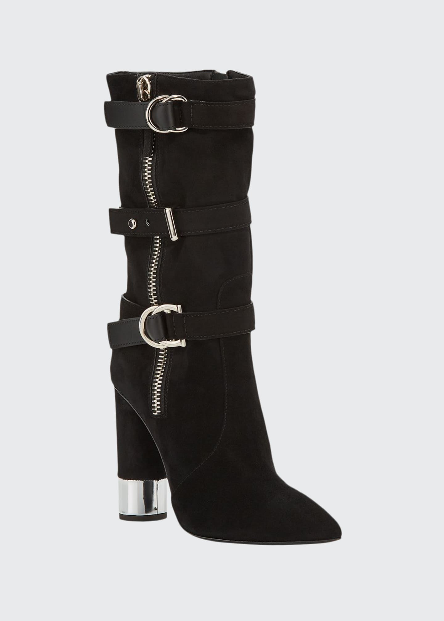 Giuseppe Zanotti Tall Suede Buckle Boots