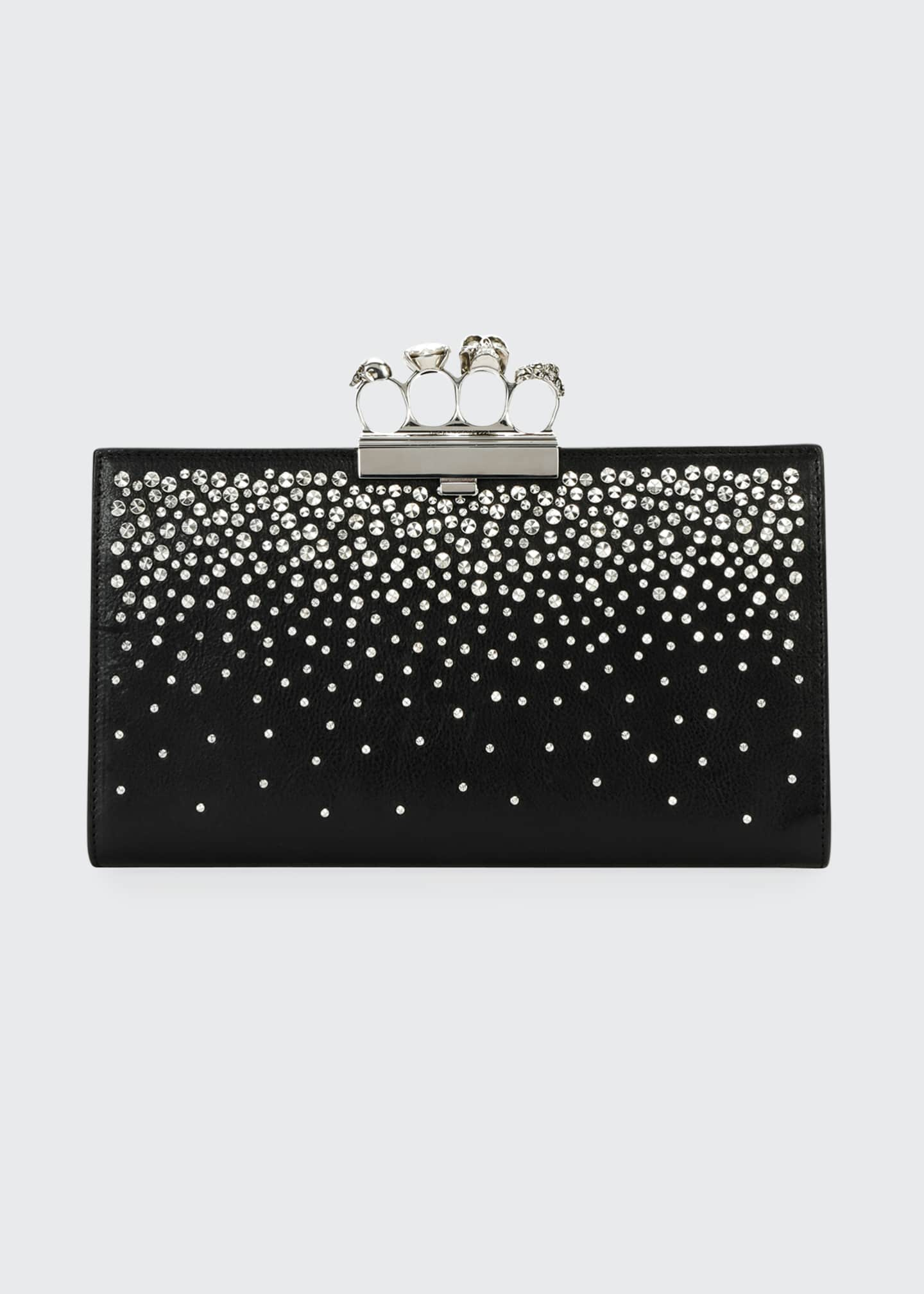 Image 1 of 3: Skull Four Ring Flat Pouch Bag