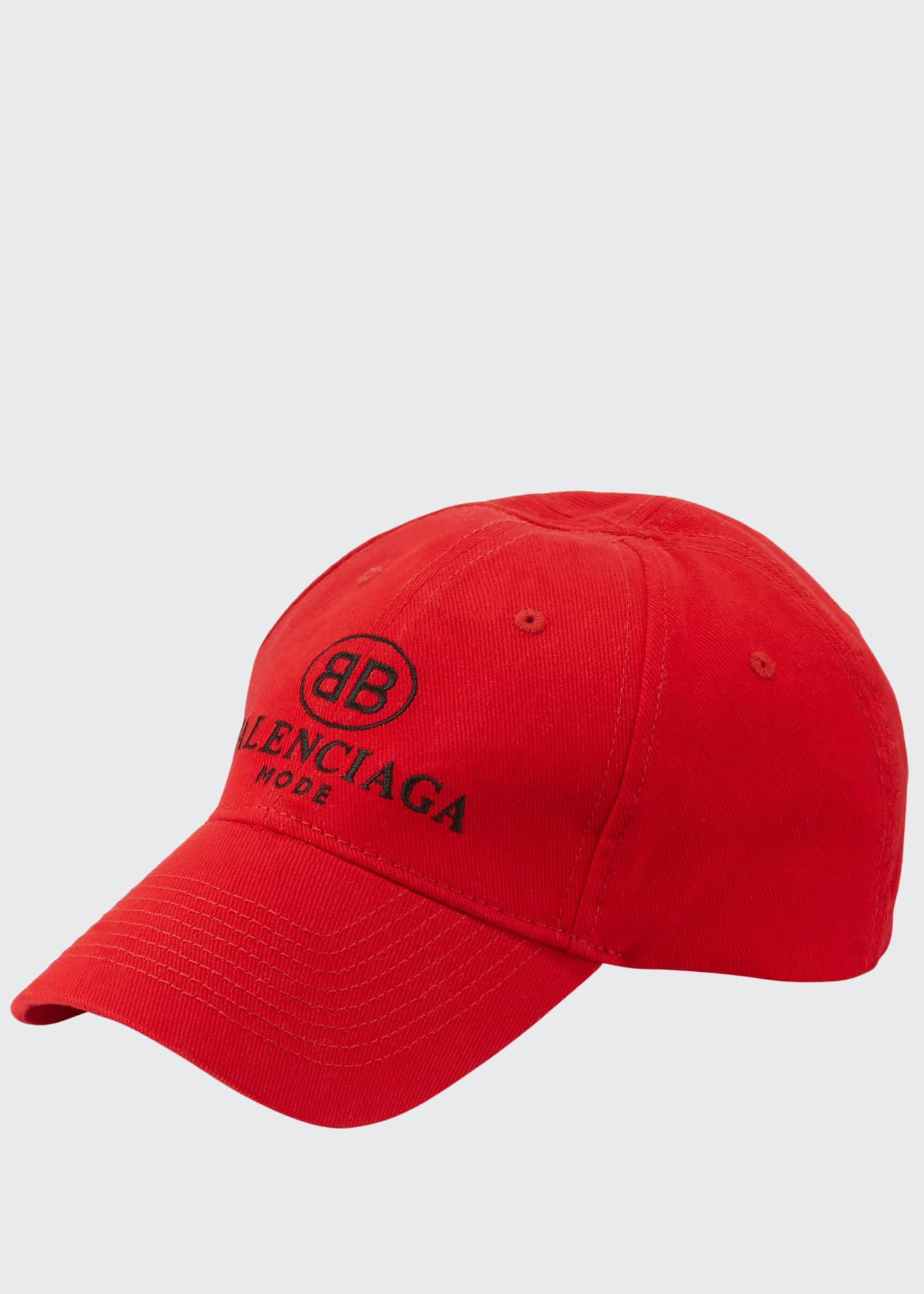 Balenciaga Men's Embroidered Logo Baseball Cap
