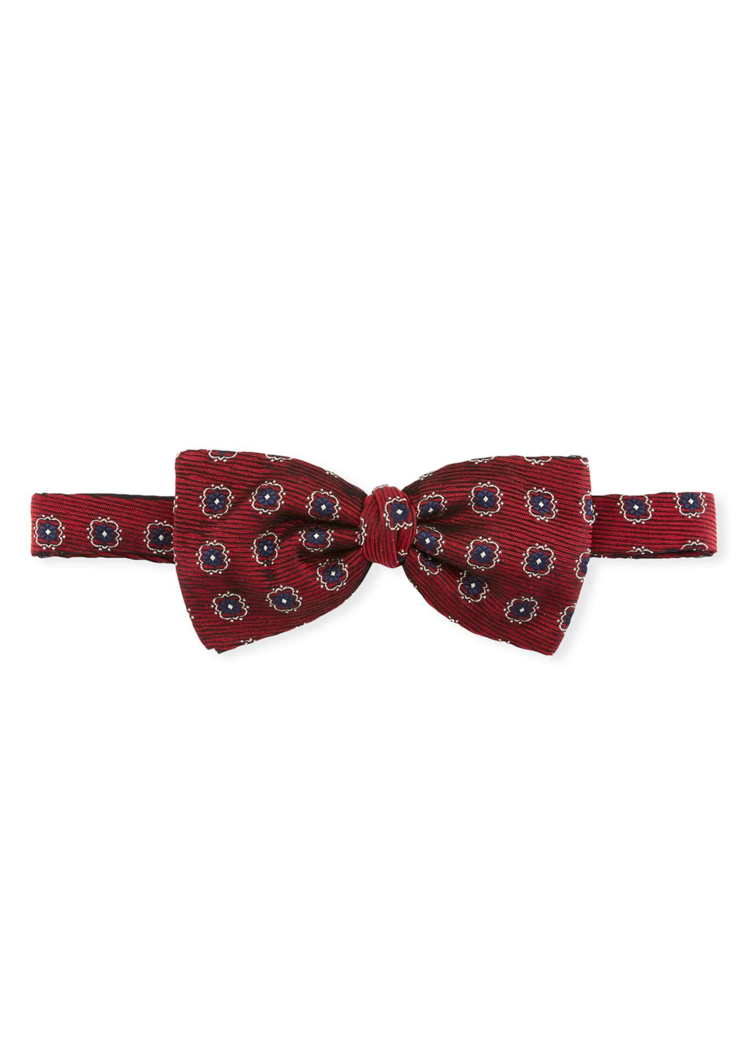 Ermenegildo Zegna Medallions Silk Bow Tie