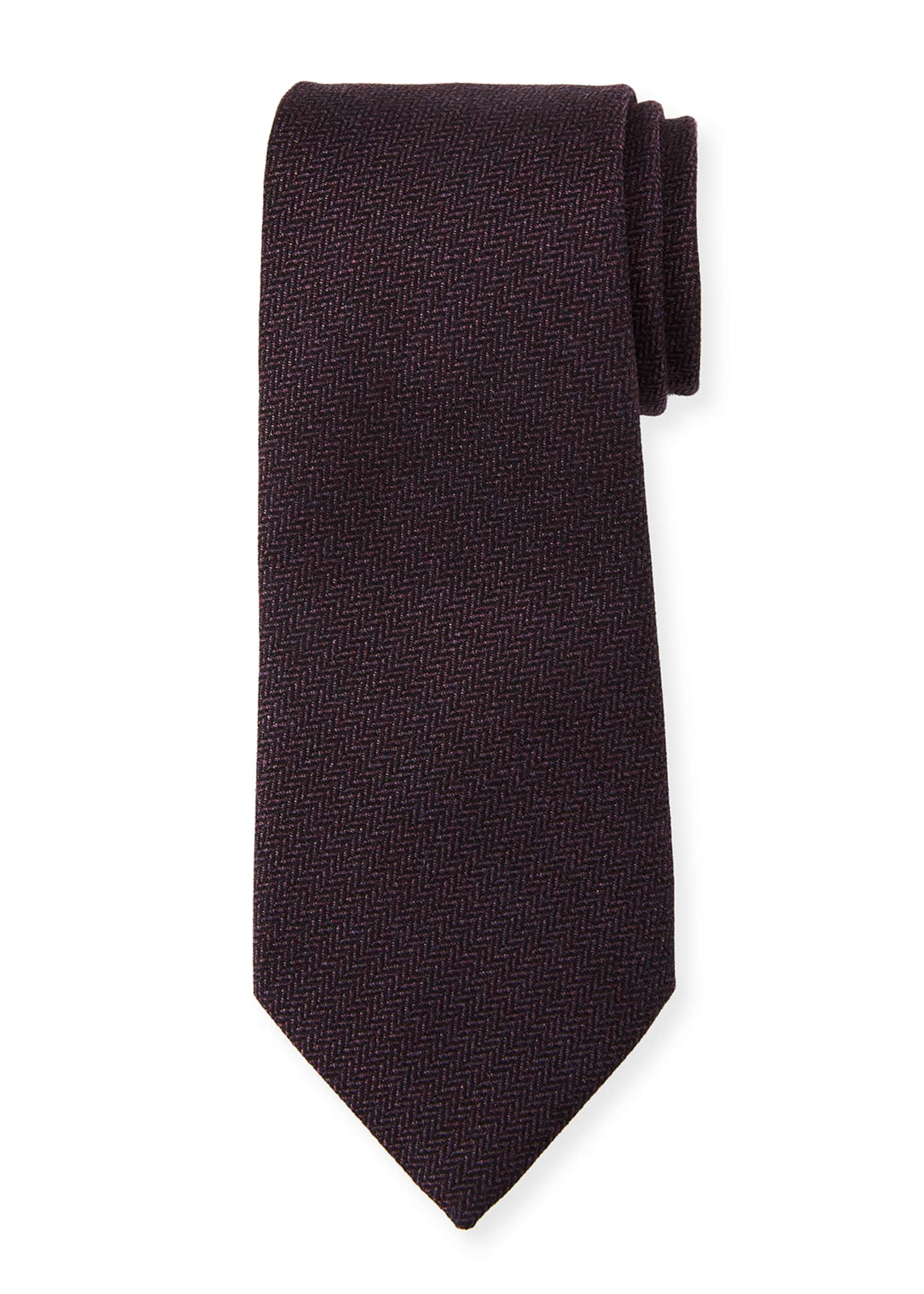 Ermenegildo Zegna Herringbone Silk Tie