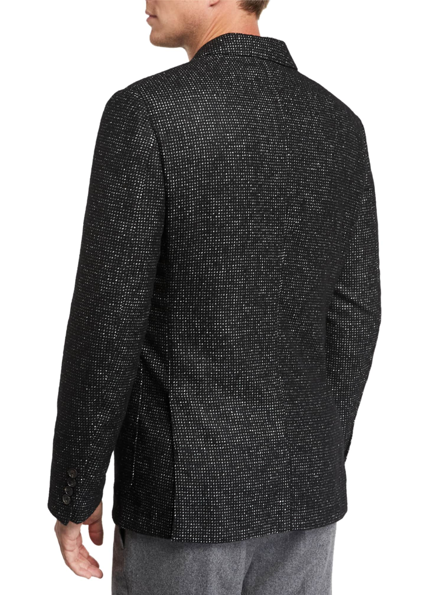Image 2 of 3: Men's Two-Button Tic-Pattern Jacket