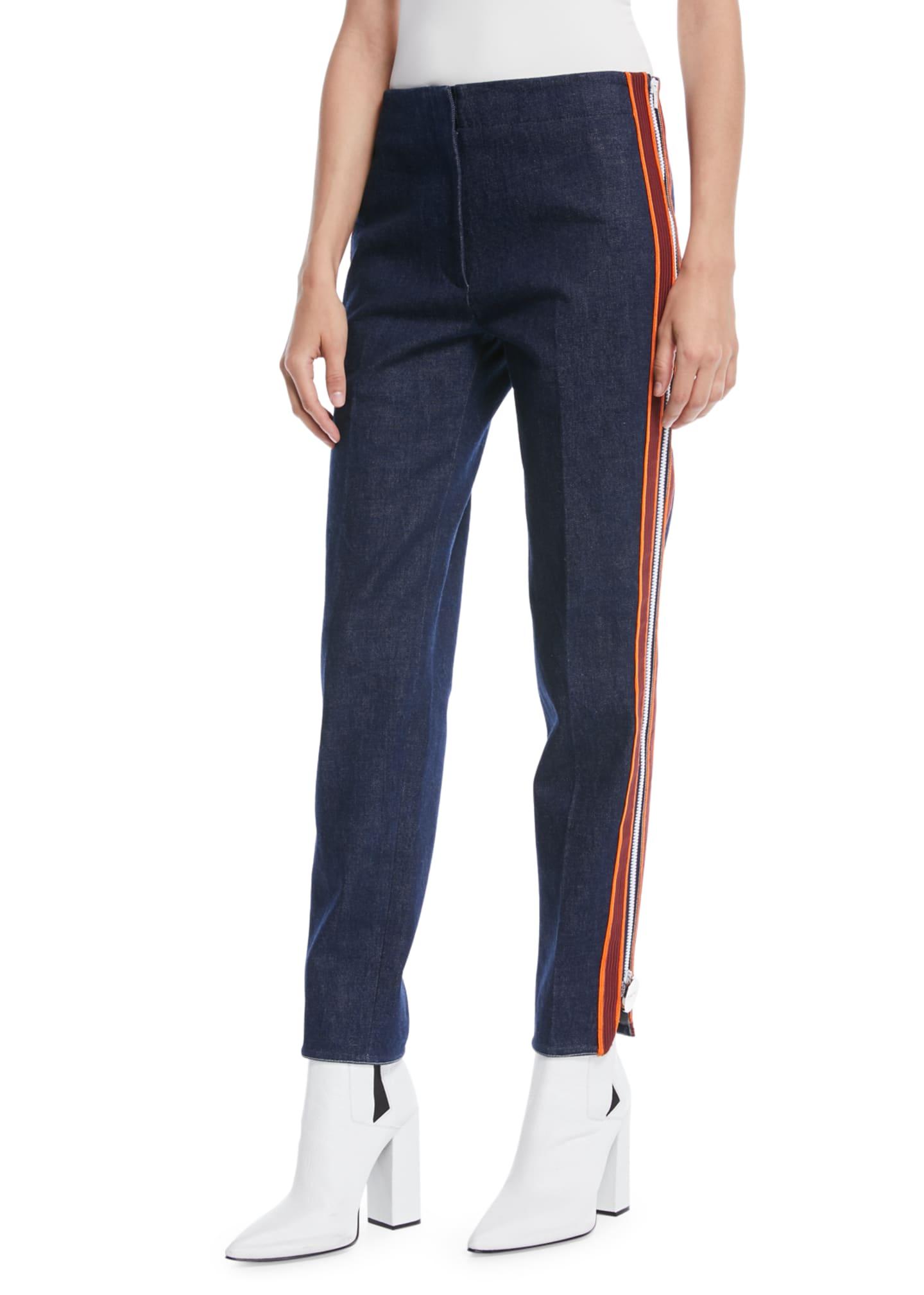 CALVIN KLEIN 205W39NYC Side Stripe Zipper Skinny Jeans