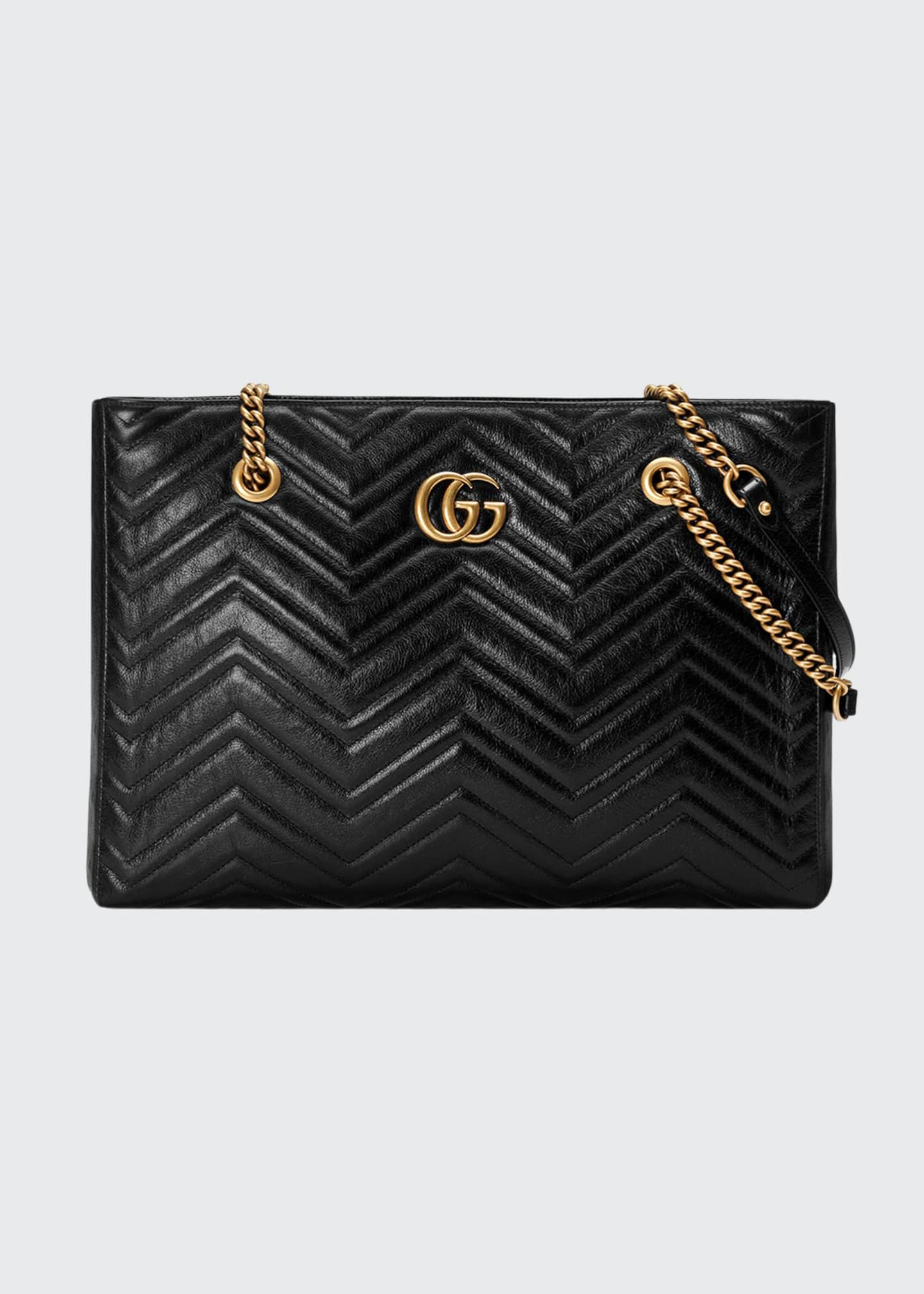 Gucci GG Marmont Medium Quilted Leather Shoulder Tote