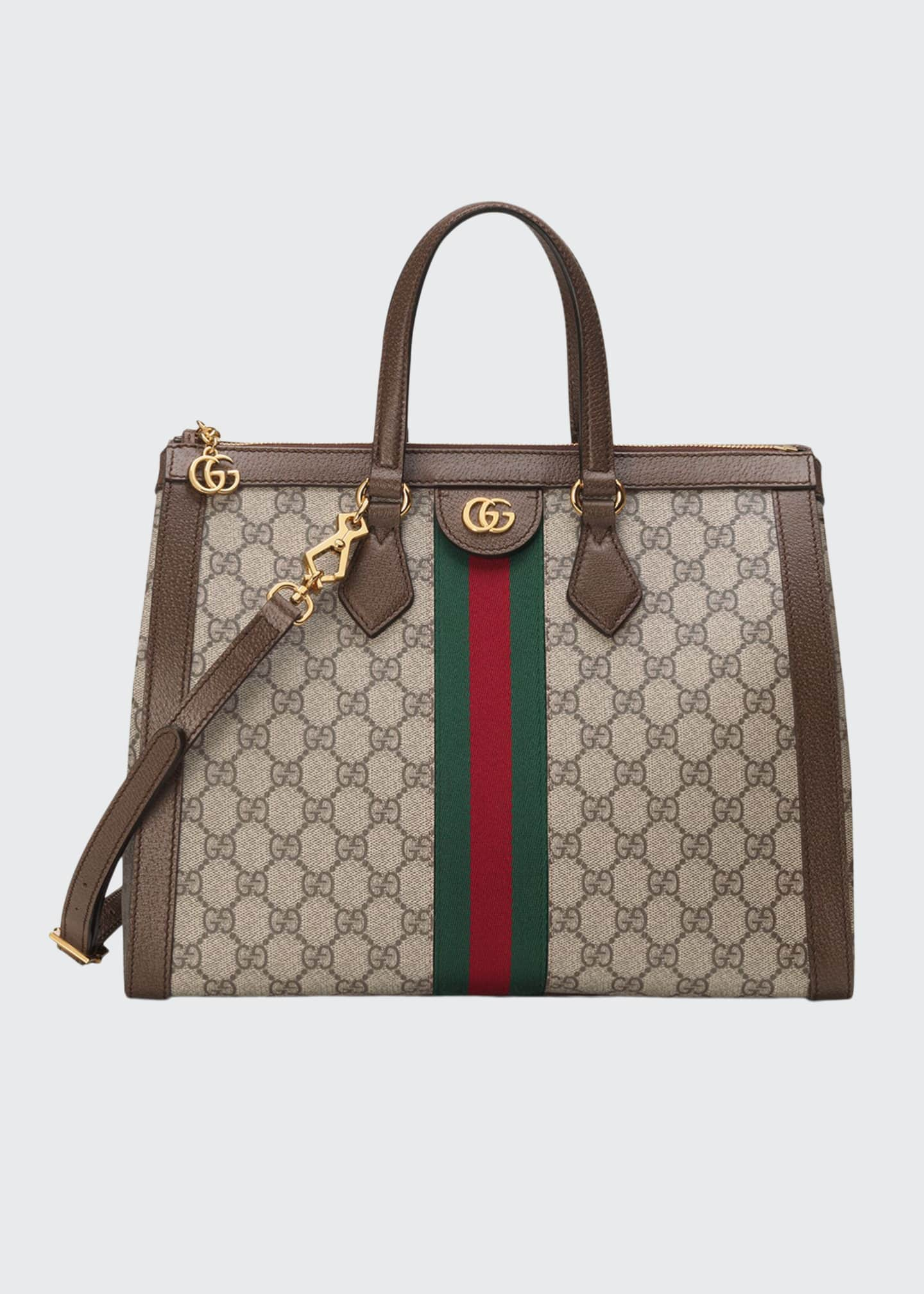 Gucci Ophidia Medium GG Supreme Canvas Web Top-Handle