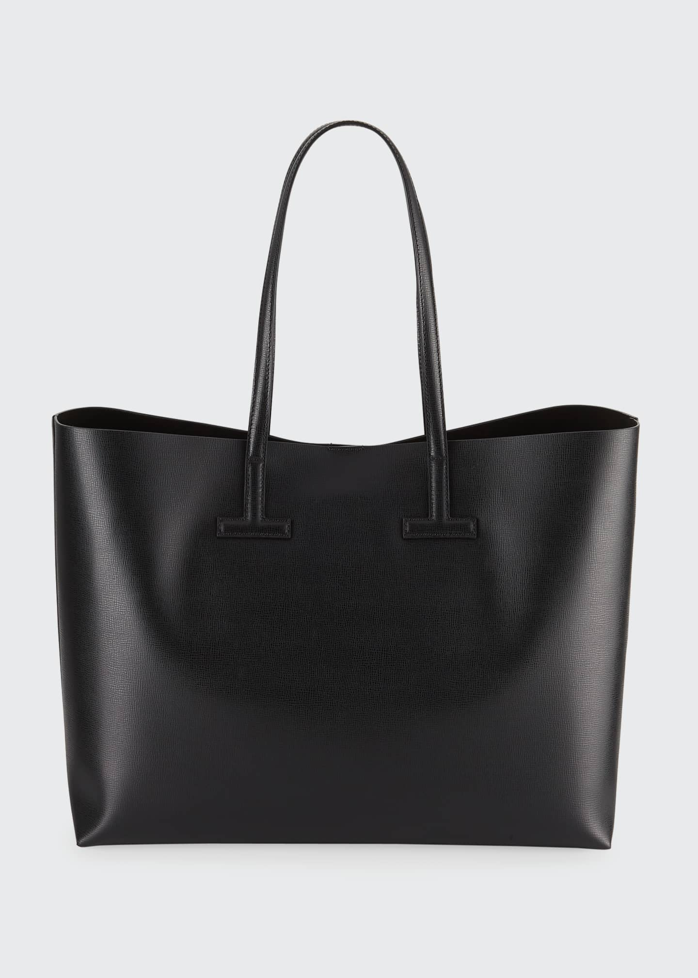 Image 2 of 4: Medium T Saffiano Leather Tote Bag