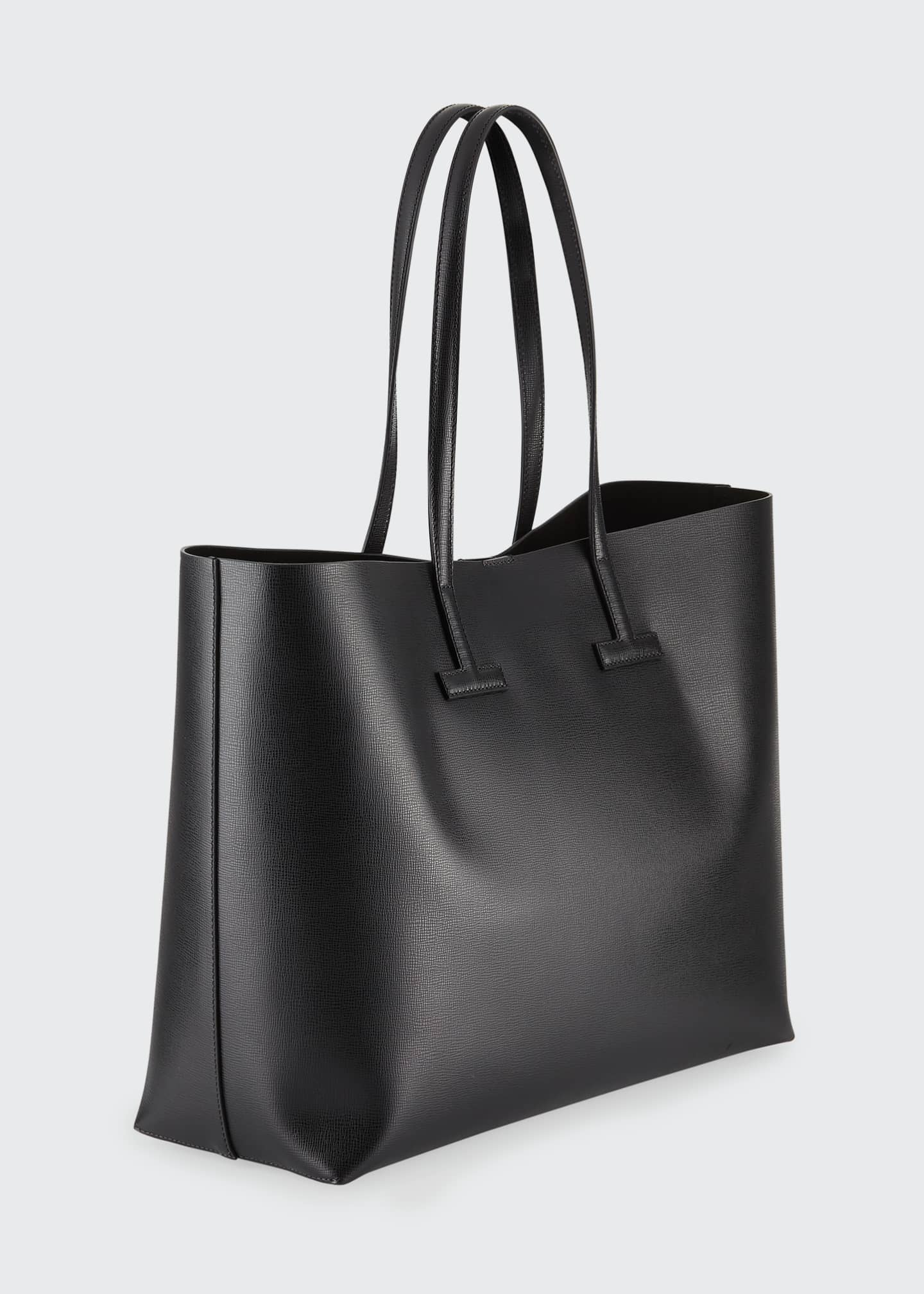 Image 3 of 4: Medium T Saffiano Leather Tote Bag
