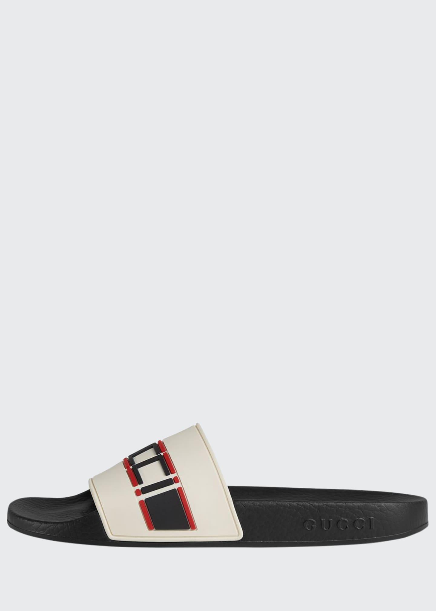 Gucci Logo Rubber Pool Sandals