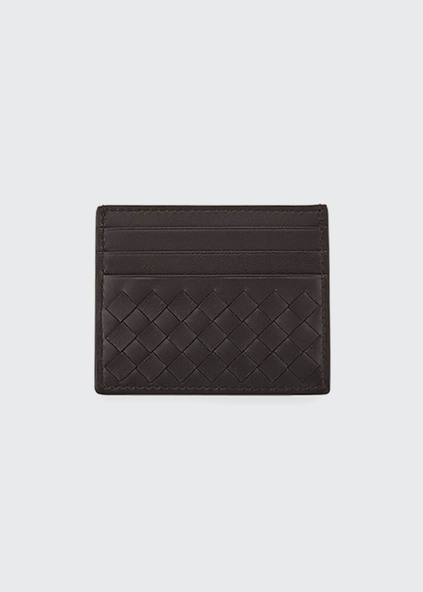 Bottega Veneta Woven Leather Credit Card Case