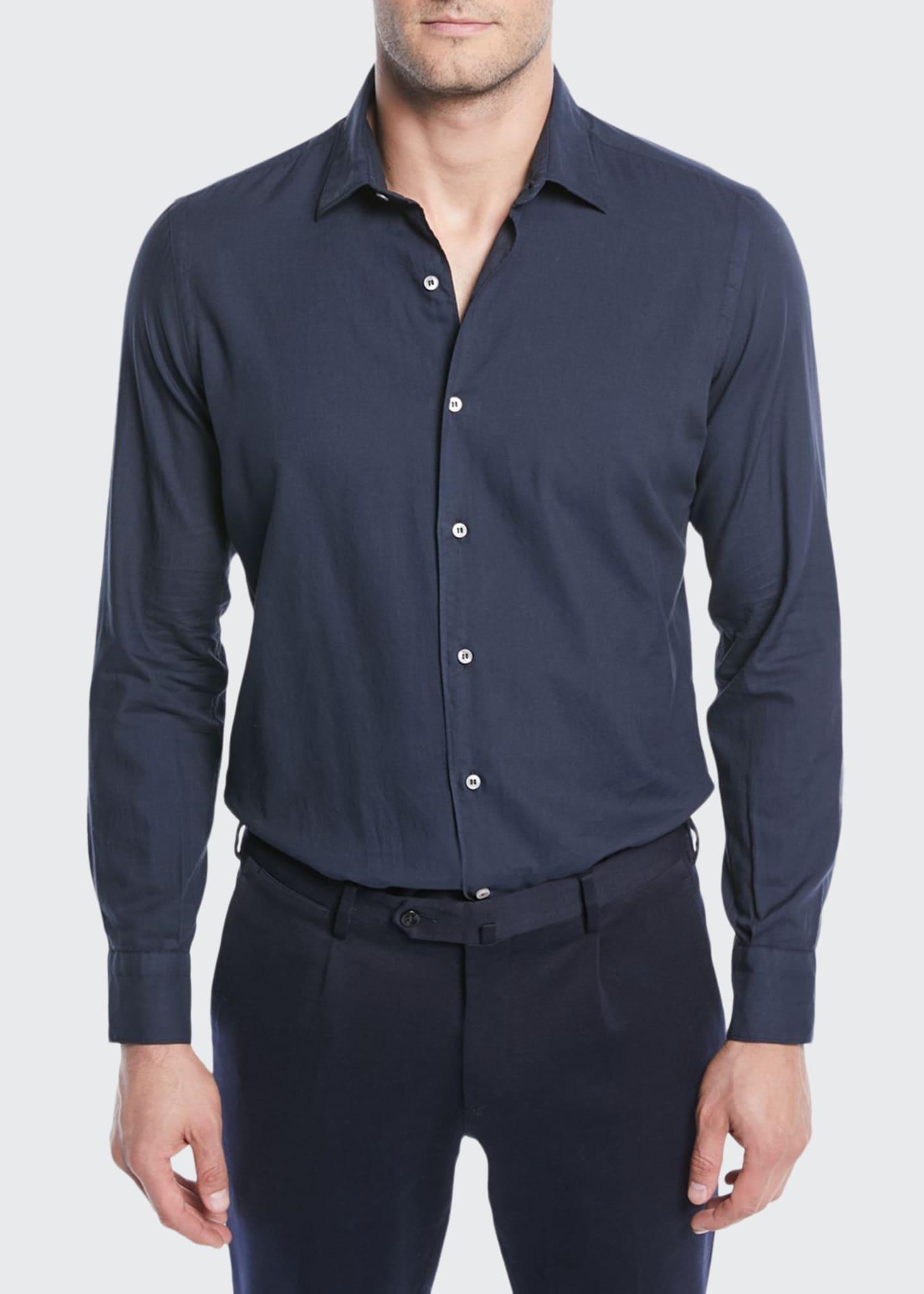 Loro Piana Men's Arthur Cotton Sport Shirt