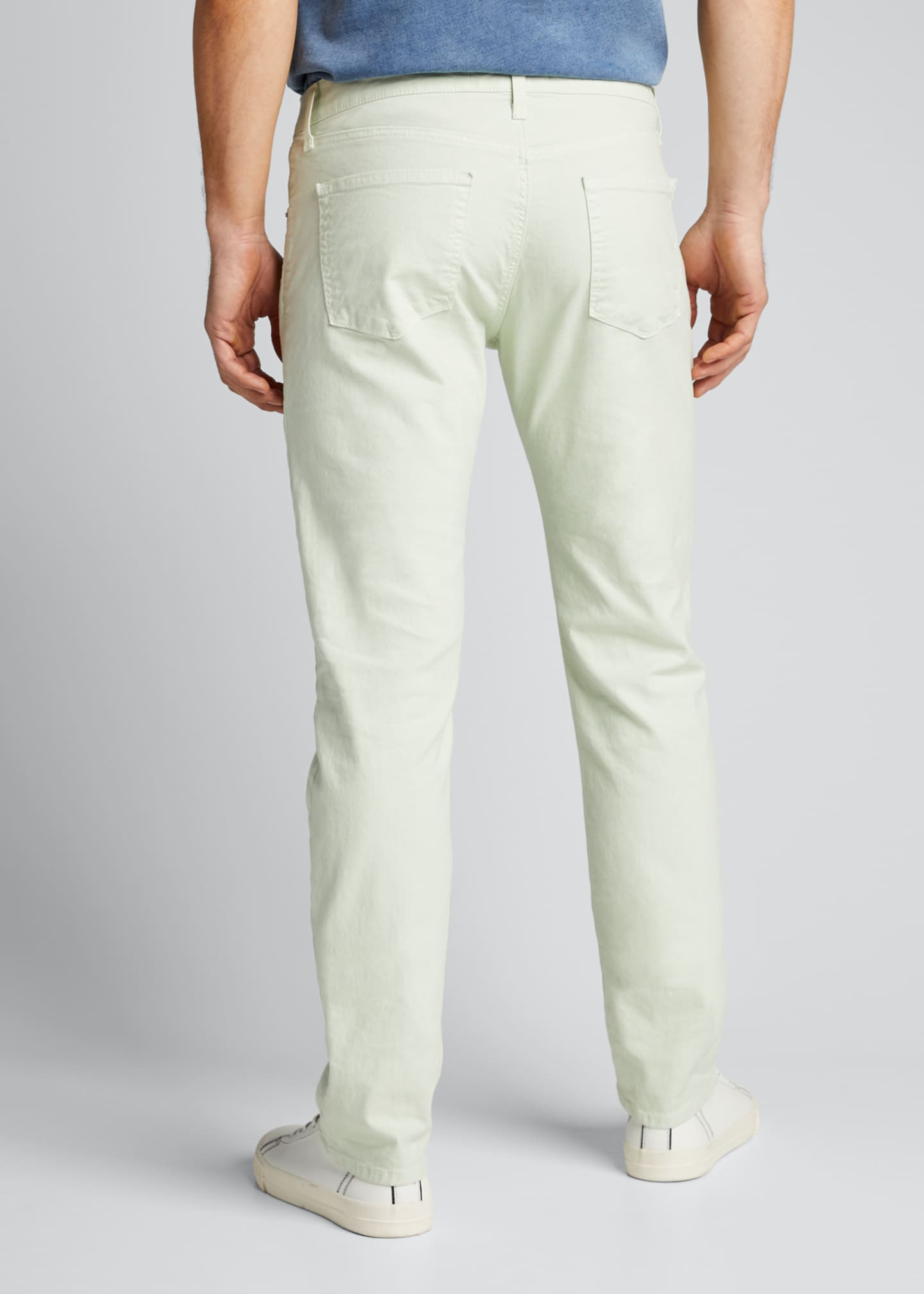 Image 2 of 4: Men's Kane Straight-Leg Lightweight Cotton-Linen Pants
