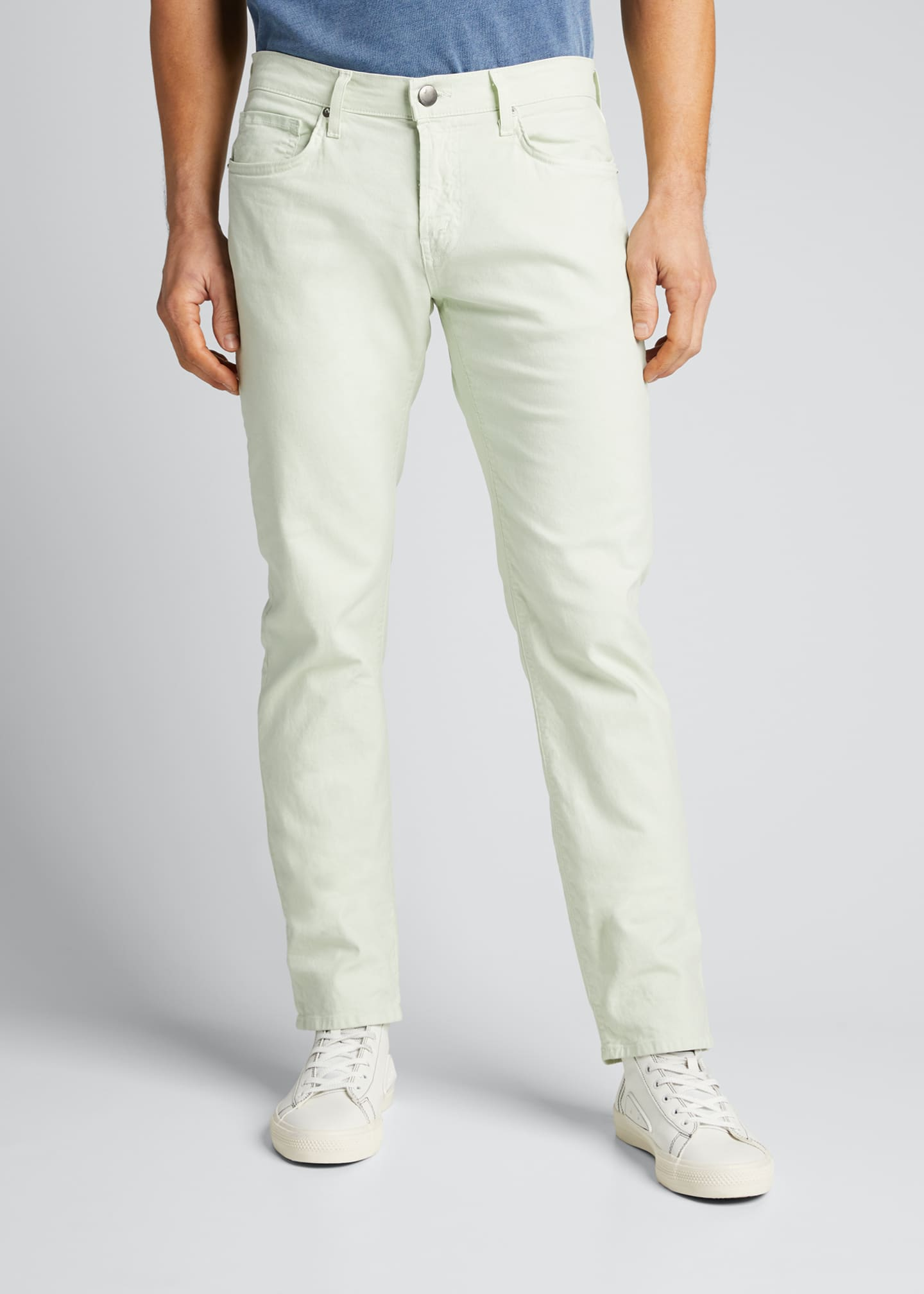 Image 3 of 4: Men's Kane Straight-Leg Lightweight Cotton-Linen Pants
