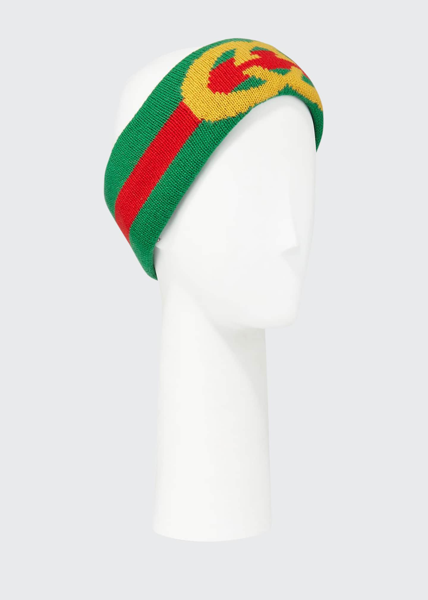 Gucci GG Intarsia Wool Headband