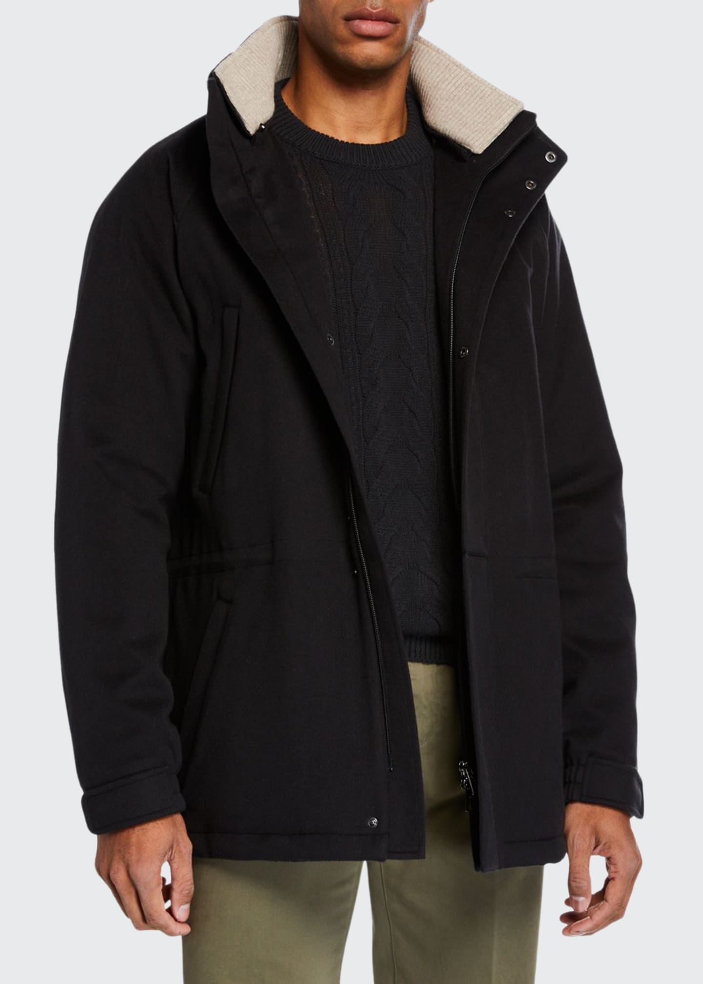 Loro Piana Men's Icer Cashmere Coat