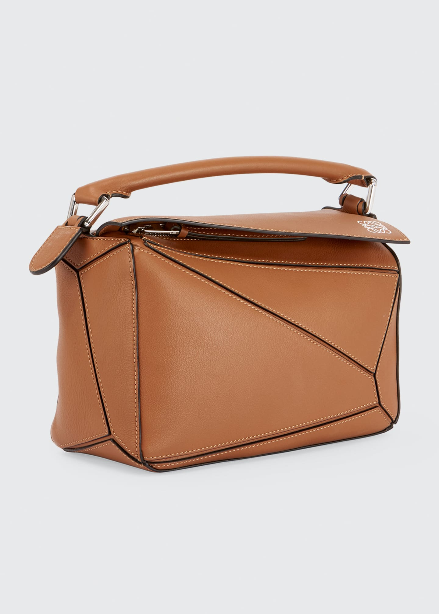 Image 2 of 5: Puzzle Small Grained Satchel Bag