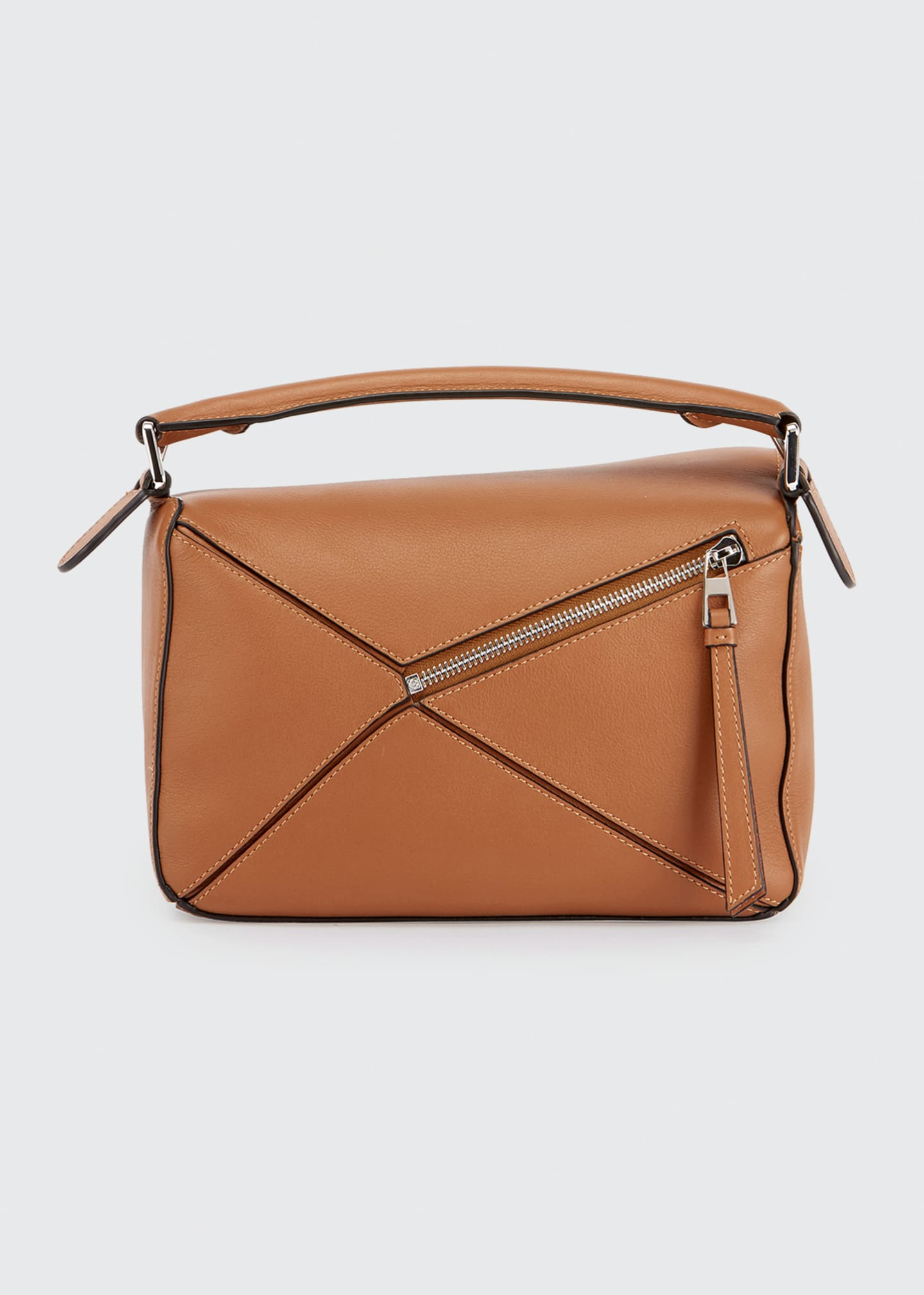 Image 3 of 5: Puzzle Small Grained Satchel Bag