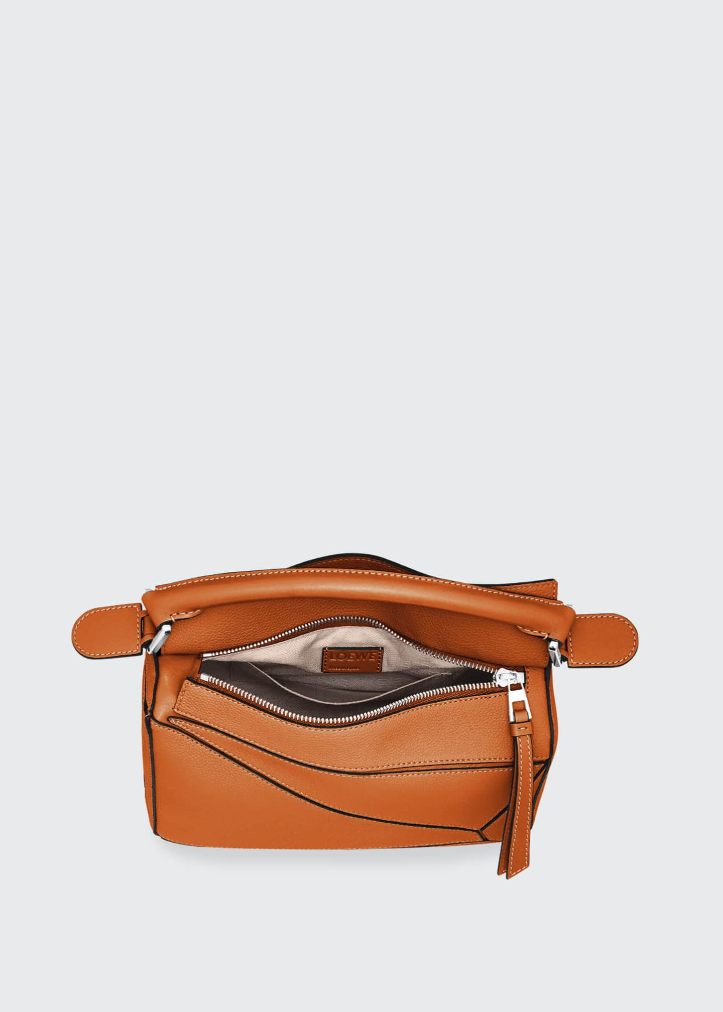 Image 4 of 5: Puzzle Small Grained Satchel Bag
