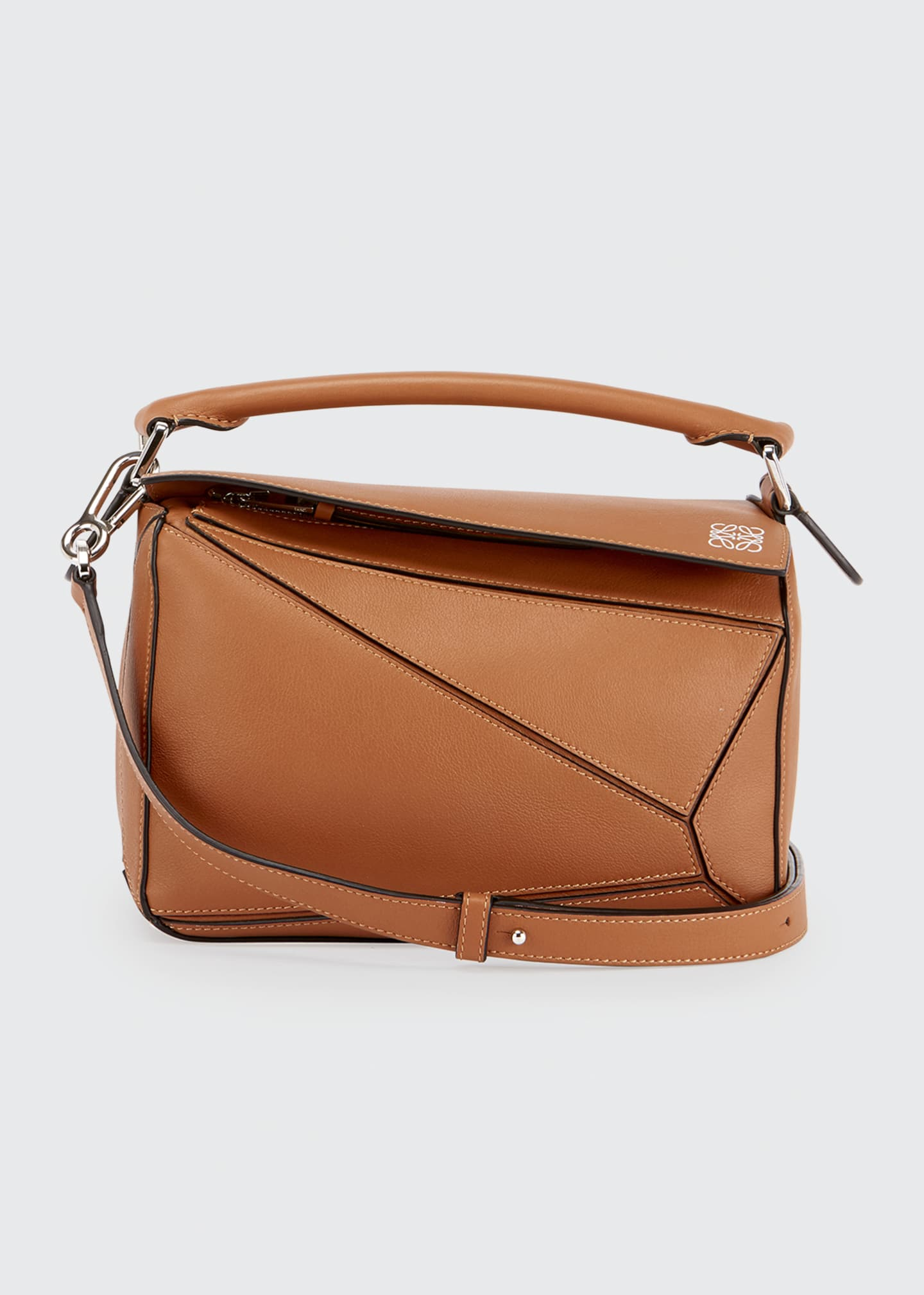 Image 1 of 5: Puzzle Small Grained Satchel Bag