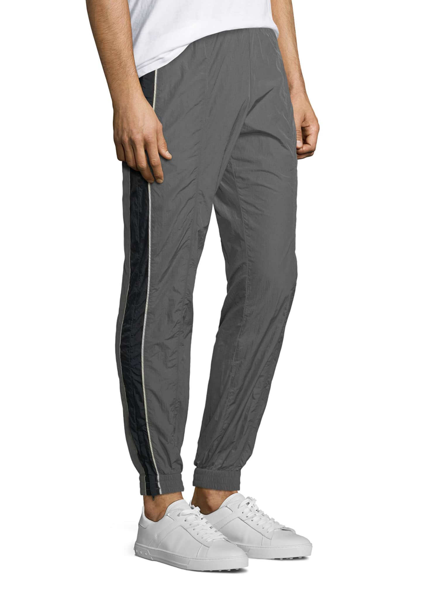Image 3 of 3: Colorblocked Nylon Track Pants