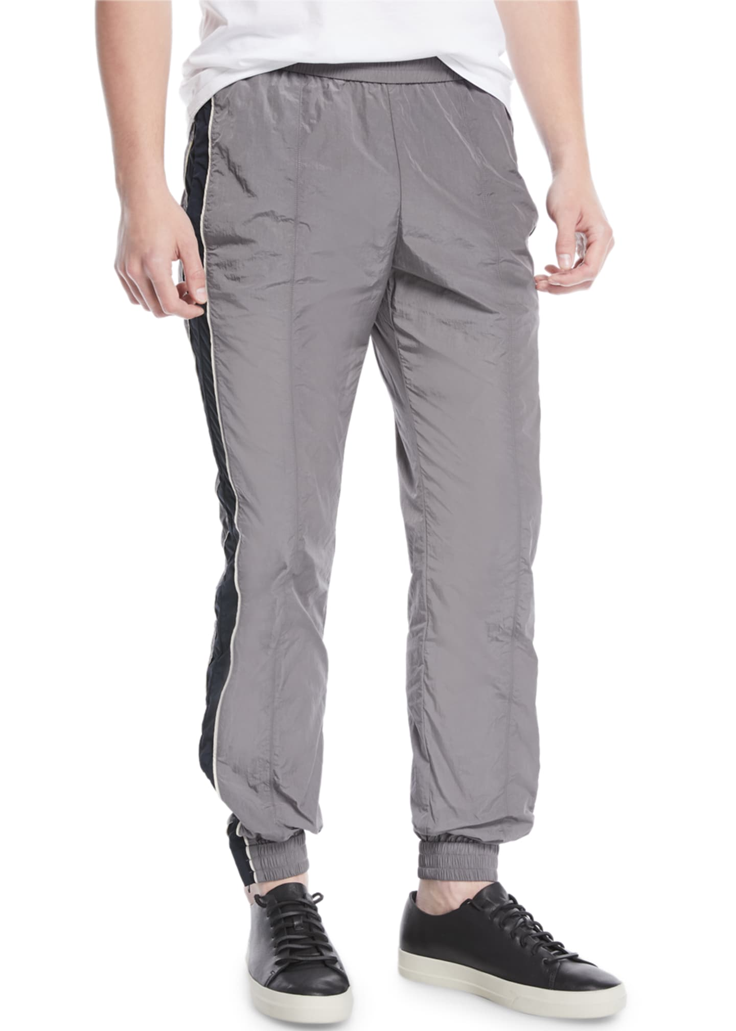 Image 1 of 3: Colorblocked Nylon Track Pants