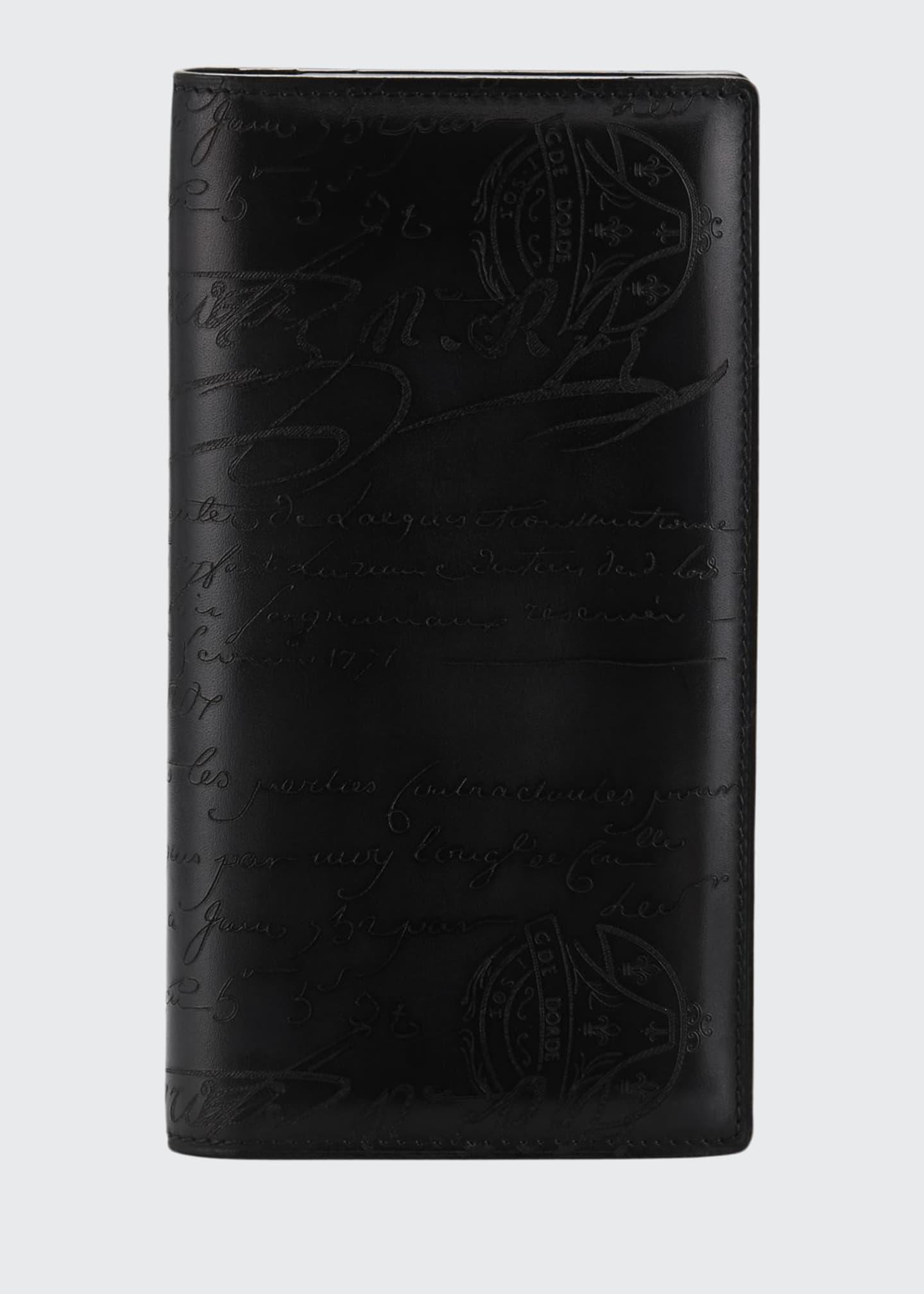Berluti Men's Ebene II Scritto Leather Long Wallet