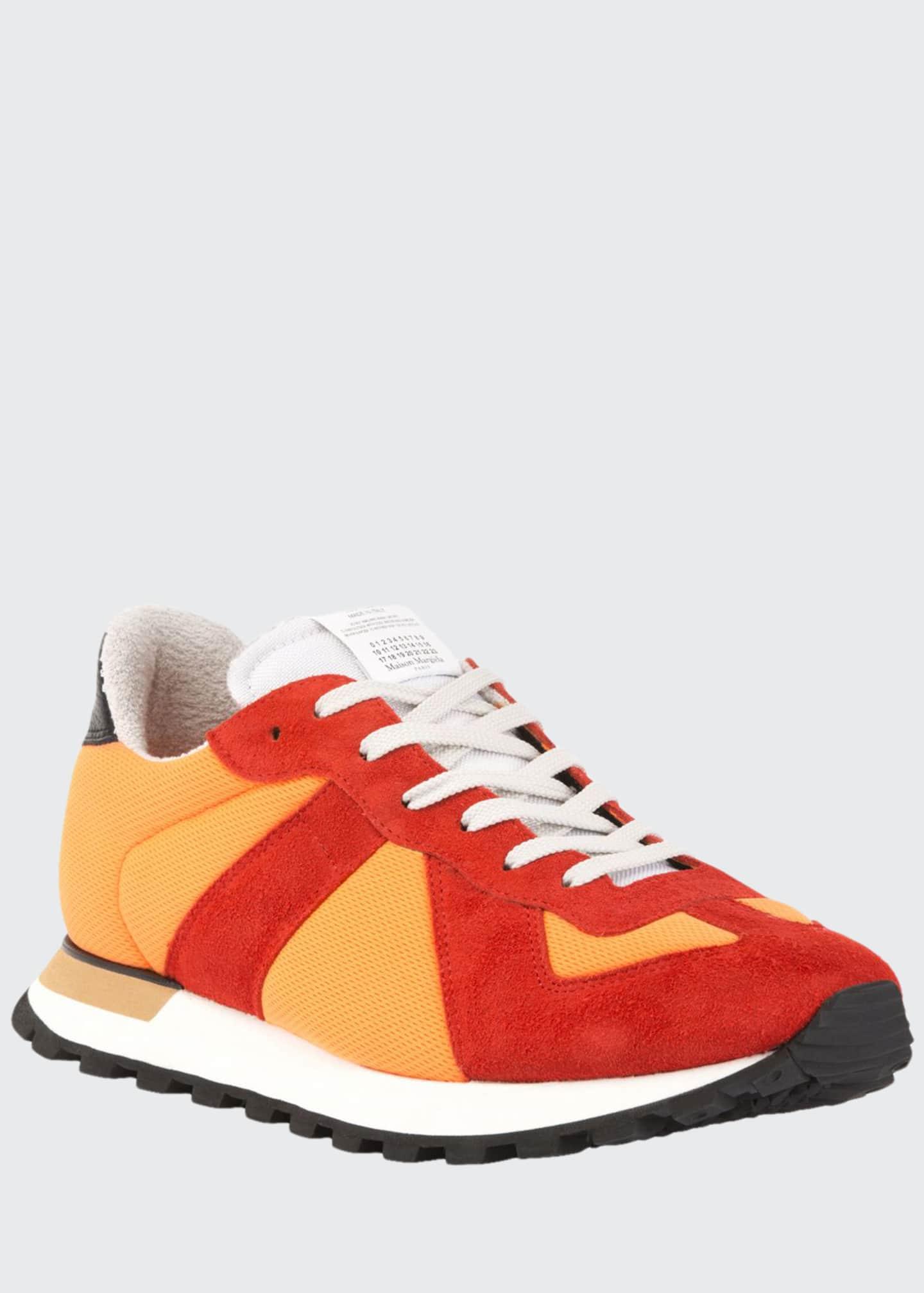 Maison Margiela Men's Replica Nylon & Suede Sneakers,