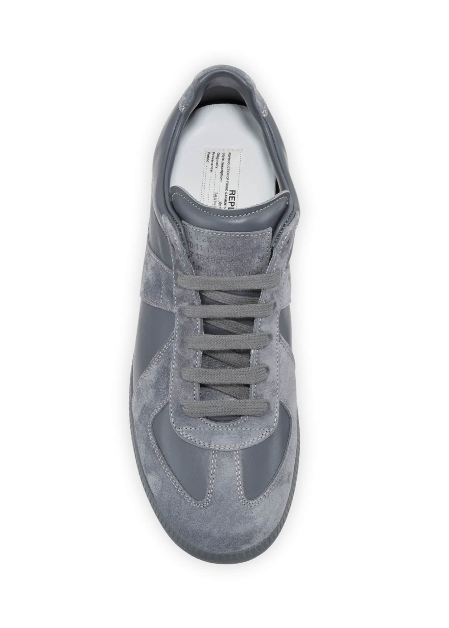 Image 2 of 3: Men's Replica Low-Top Leather Sneakers