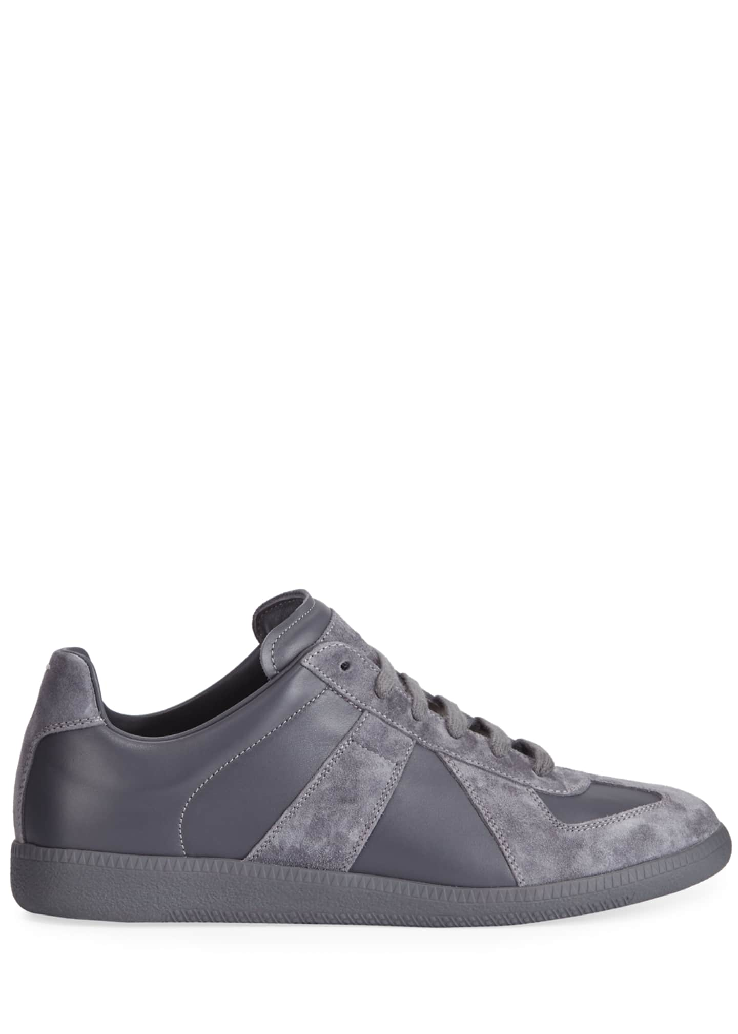 Image 3 of 3: Men's Replica Low-Top Leather Sneakers