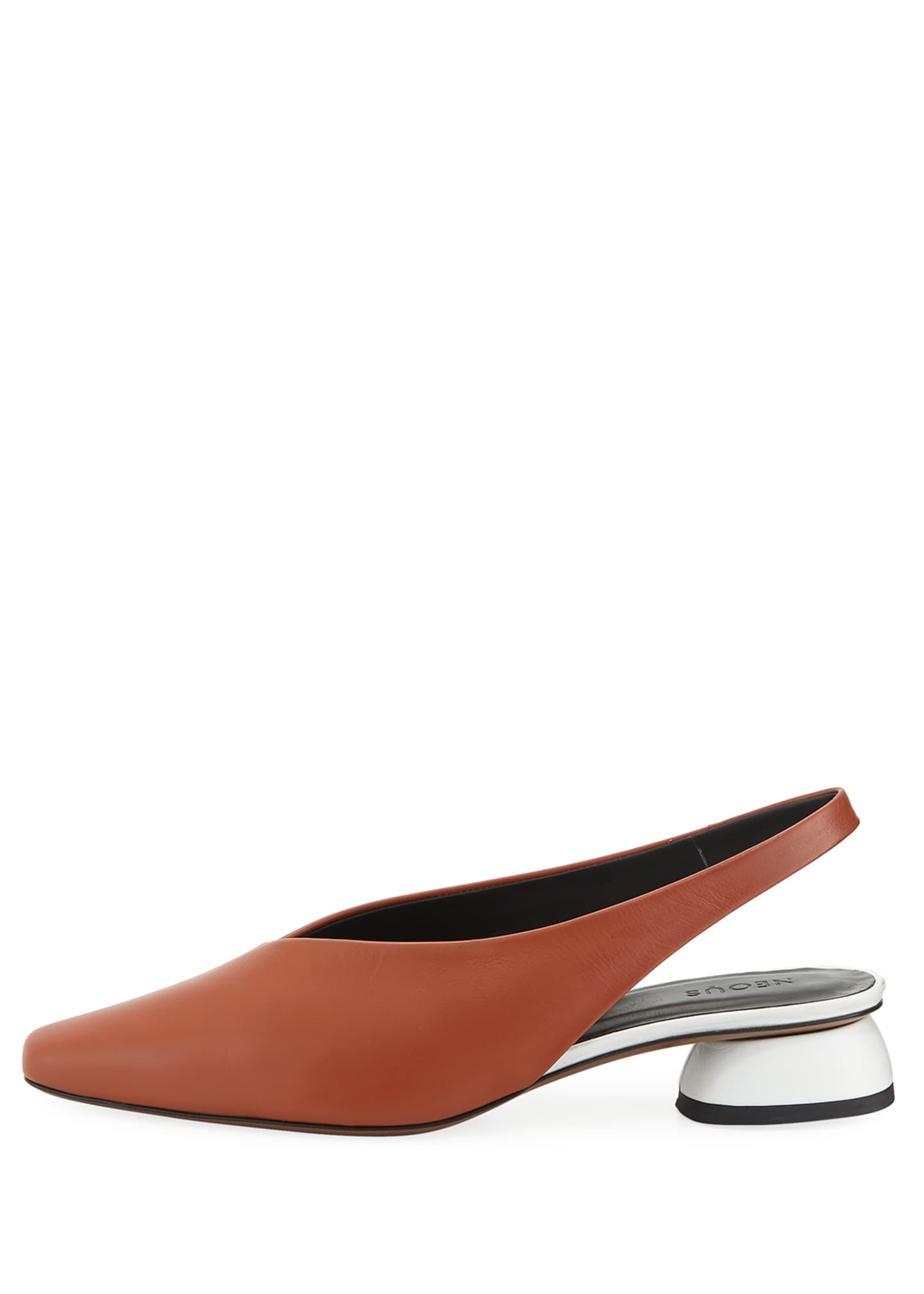 Image 2 of 4: Kingia Slingback Leather Flat