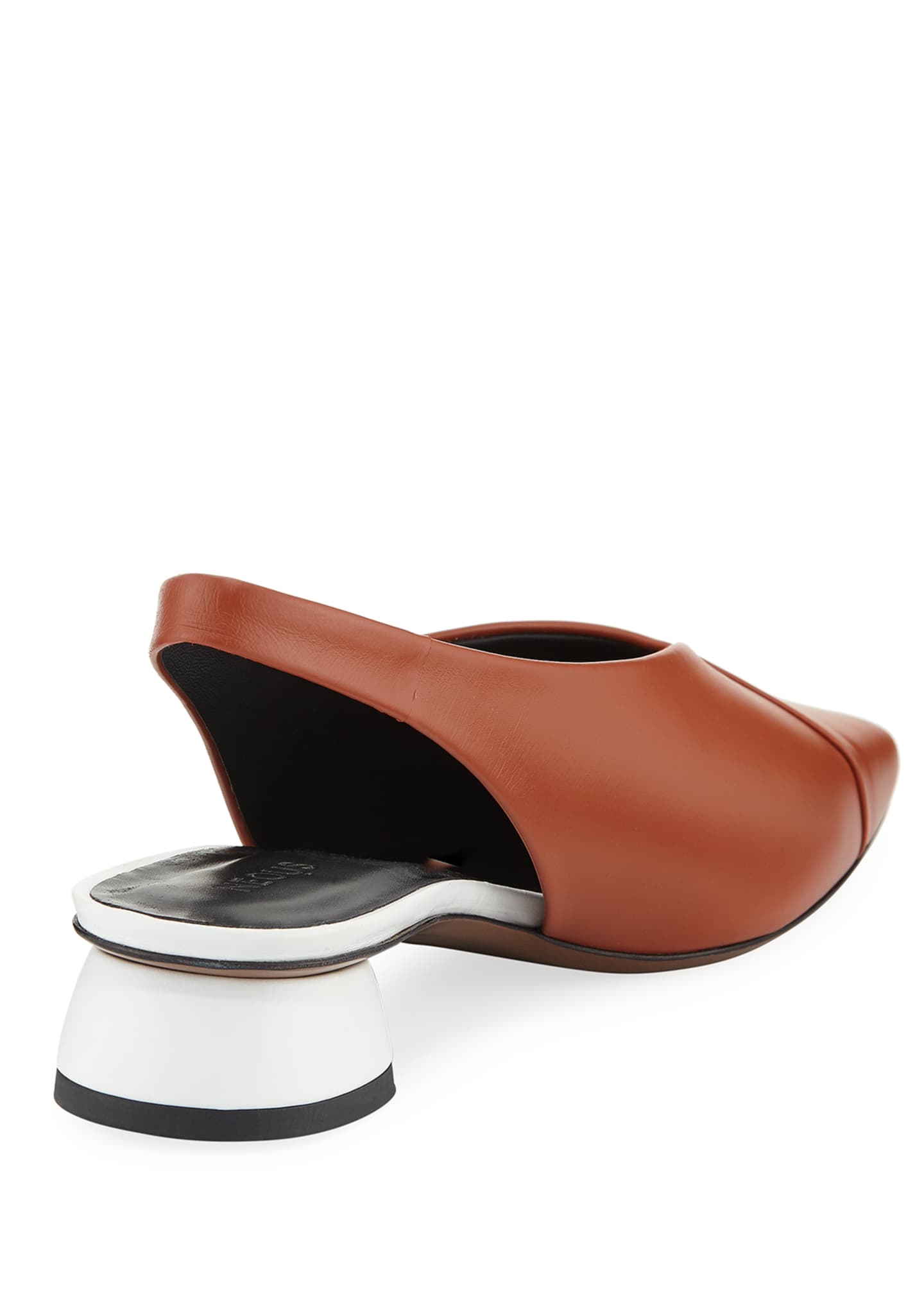 Image 4 of 4: Kingia Slingback Leather Flat
