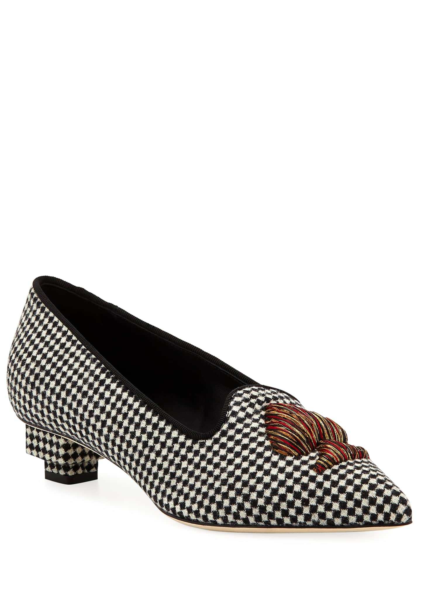 Sanayi313 Need Houndstooth Pointed Loafers