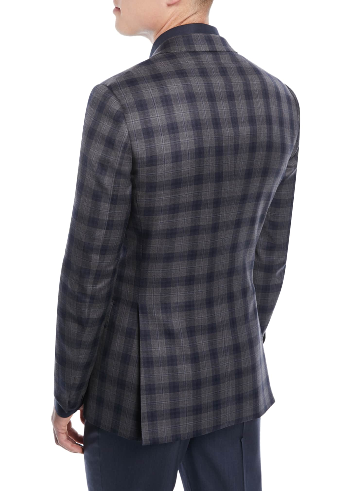 Image 2 of 3: Two-Tone Plaid Two-Button Sport Jacket