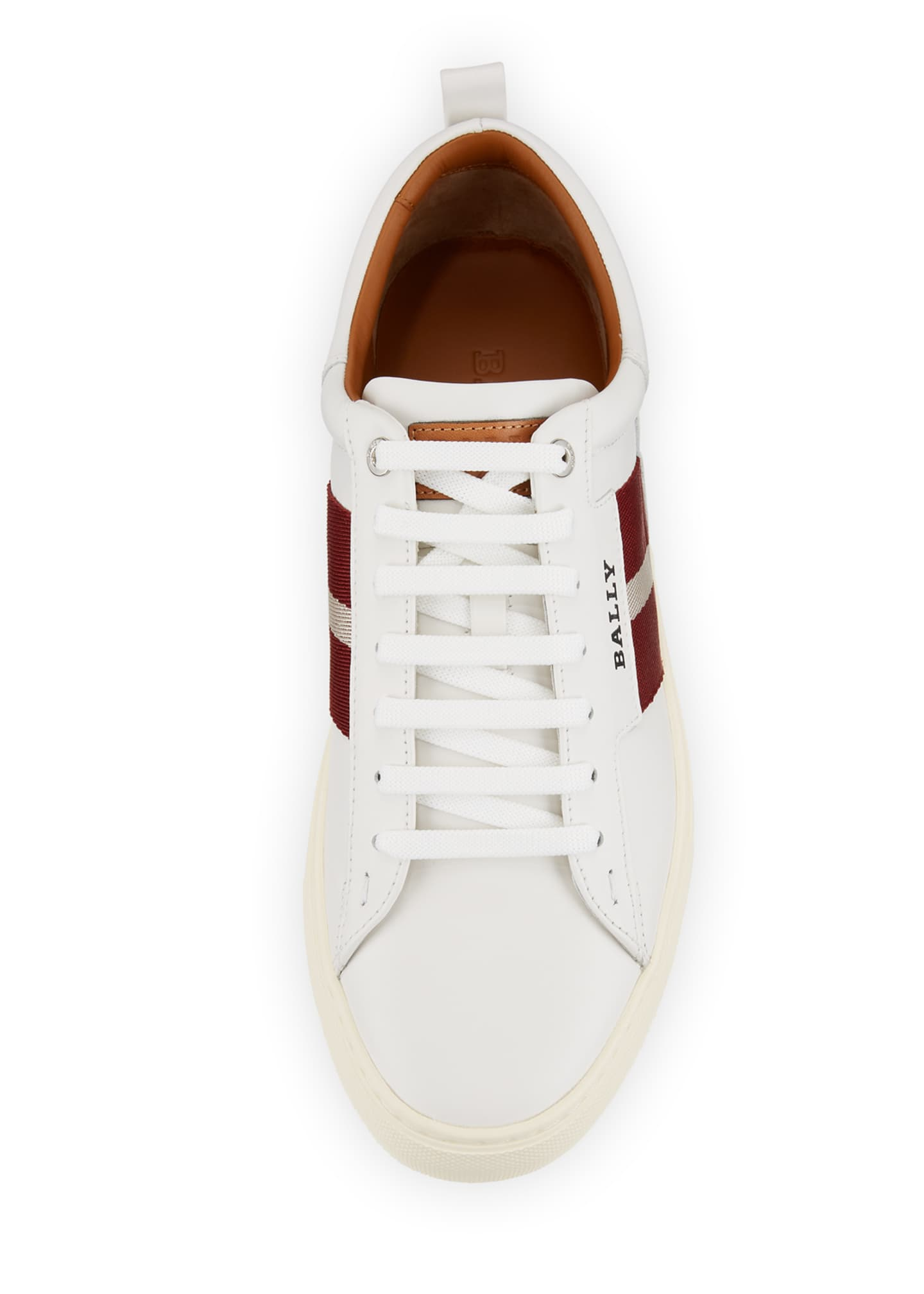 Image 2 of 2: Men's Helvio Leather Low-Top Sneakers