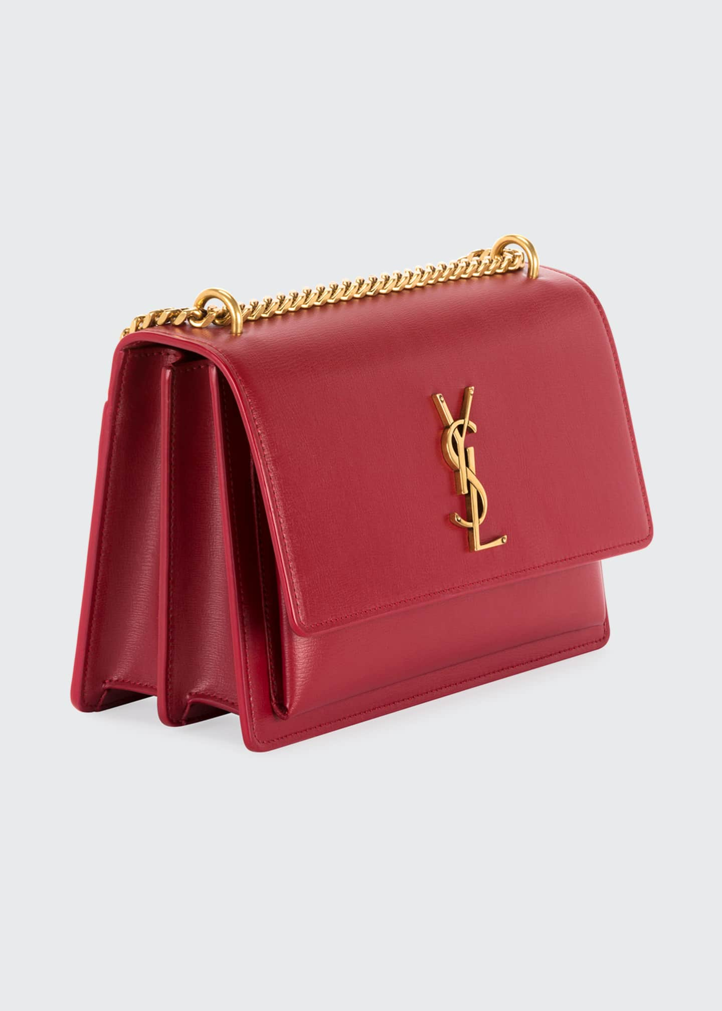Image 3 of 3: Sunset Medium Monogram YSL Chain Crossbody Bag