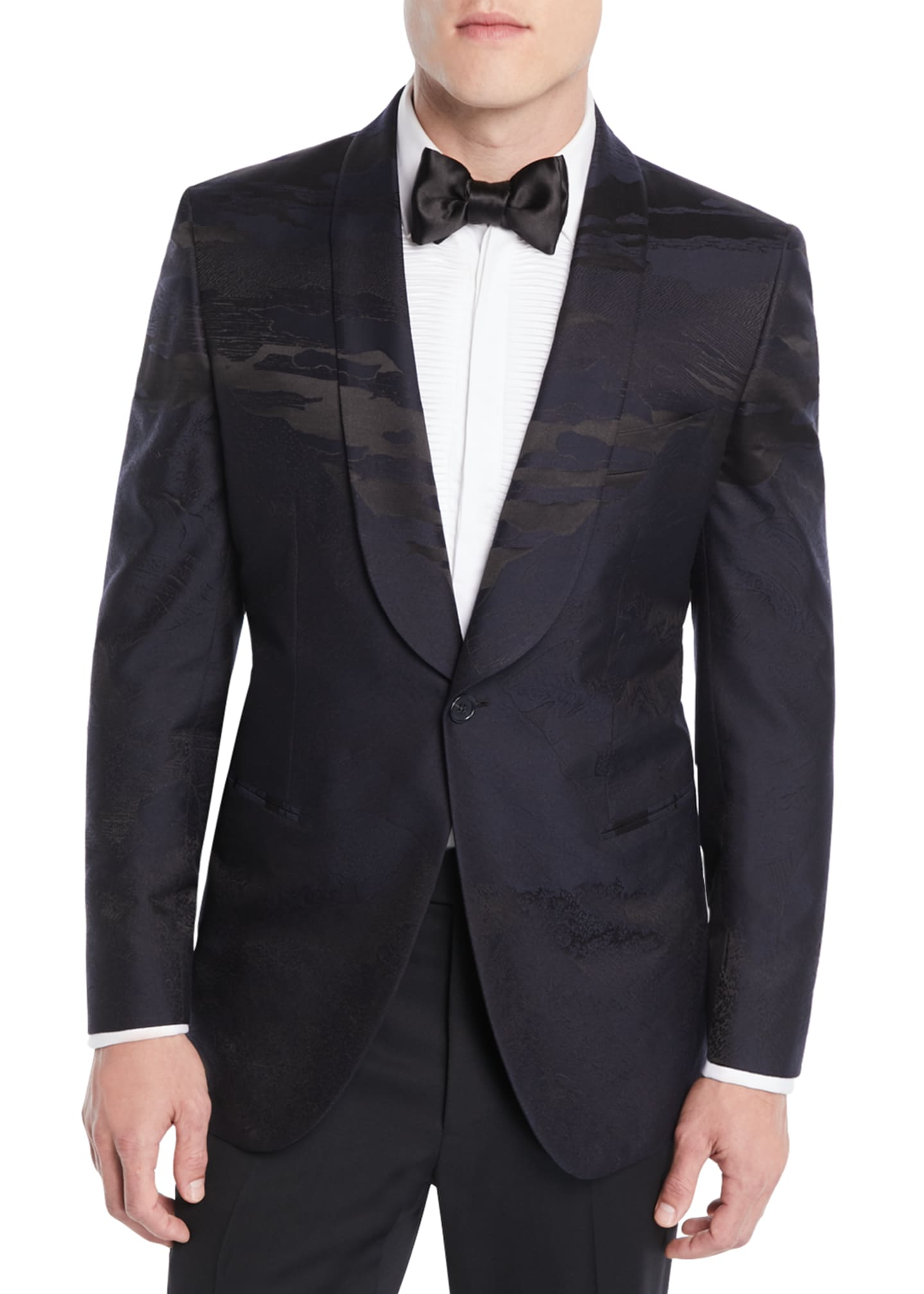 Brioni Men's Penne Landscape Dinner Jacket