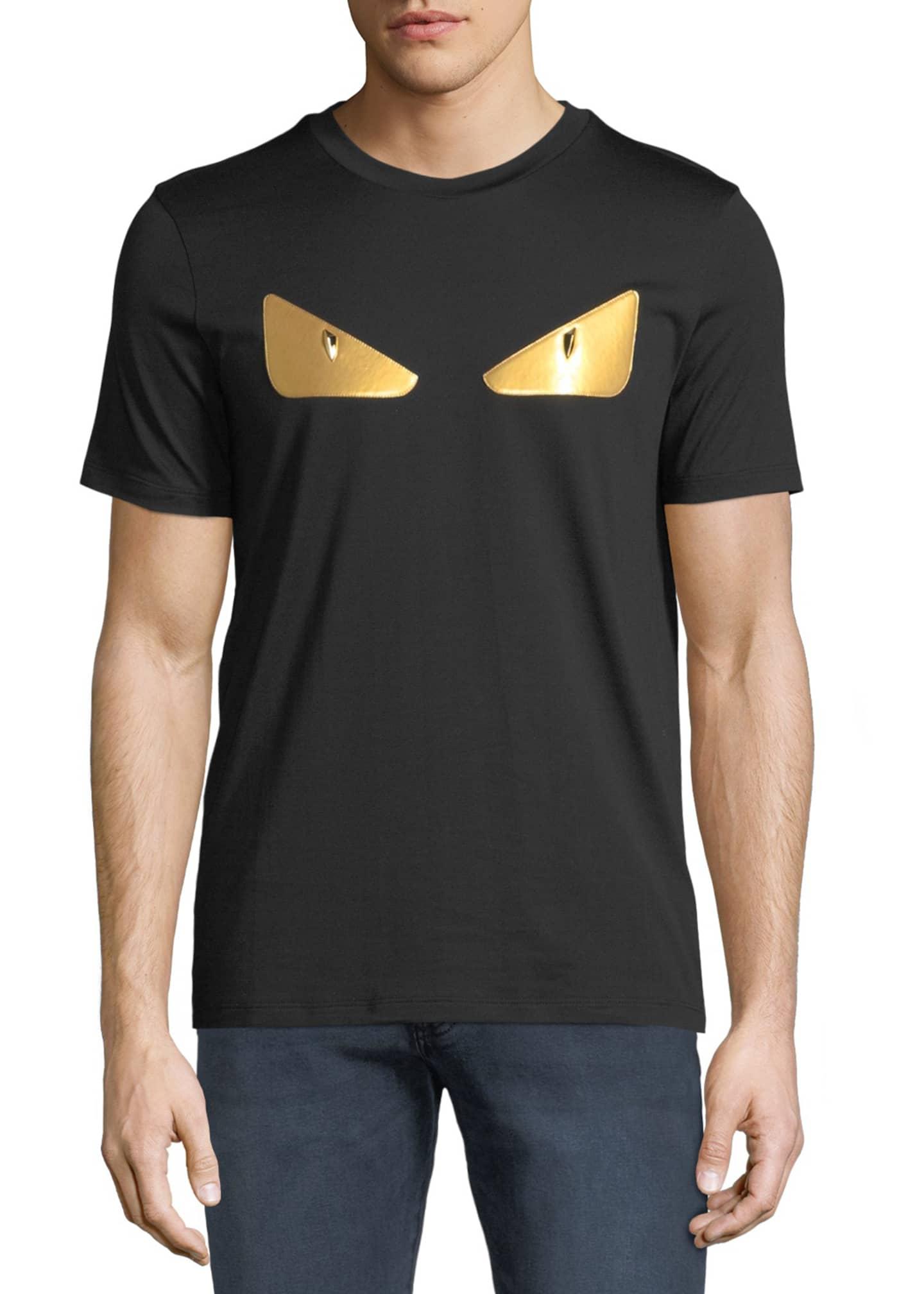 Fendi Men's Gold Bugs Appliqu� T-Shirt
