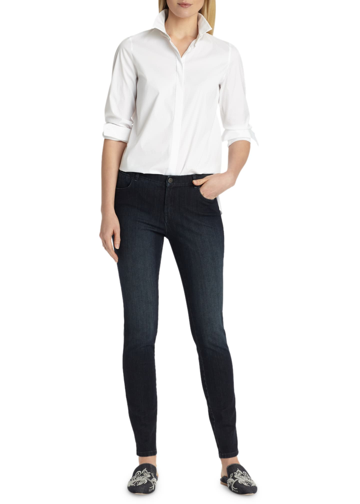 Image 3 of 4: Mercer Stretch-Denim Slim-Leg Jeans
