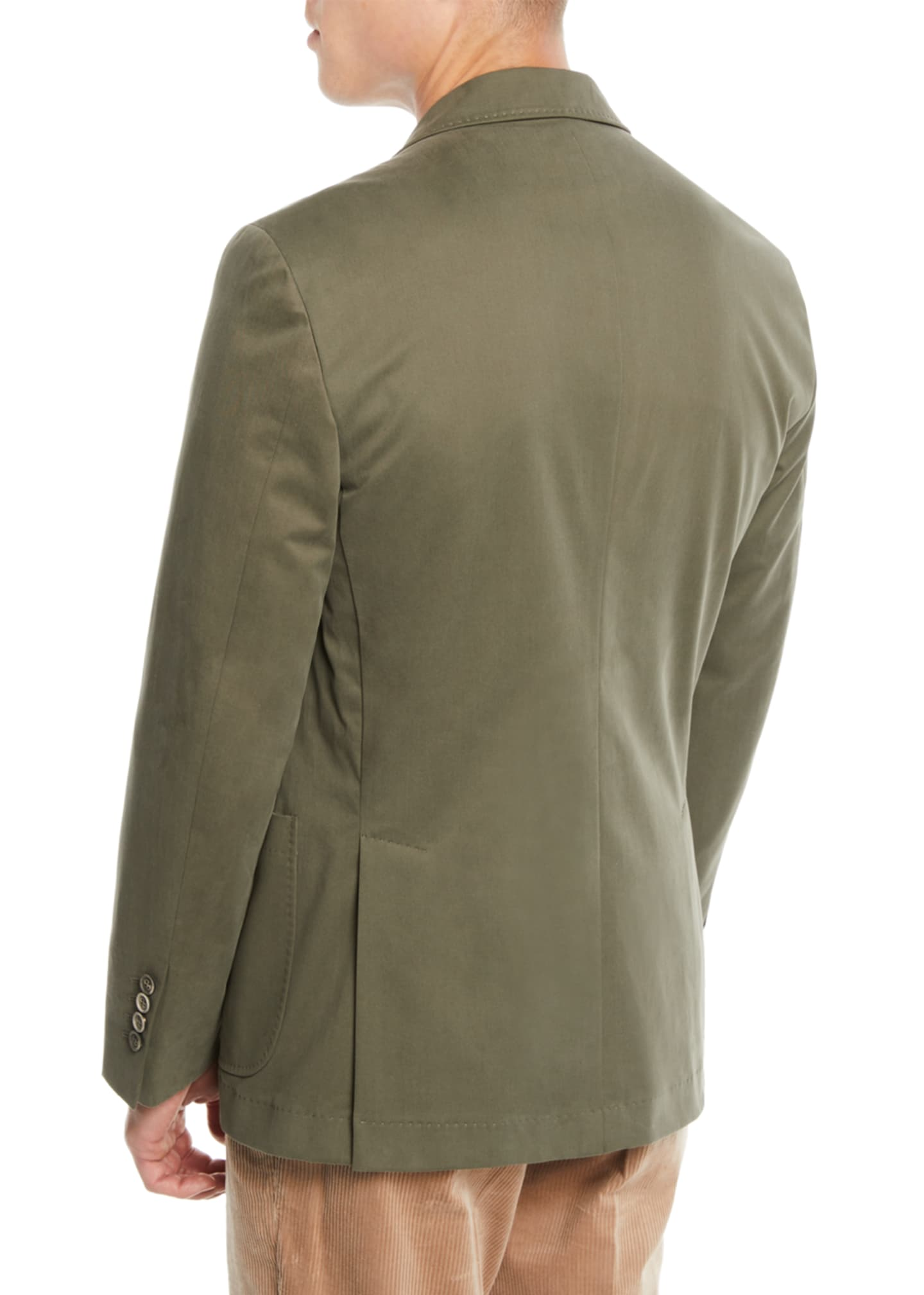 Image 3 of 3: Men's Patch-Pocket Cotton Blazer Jacket
