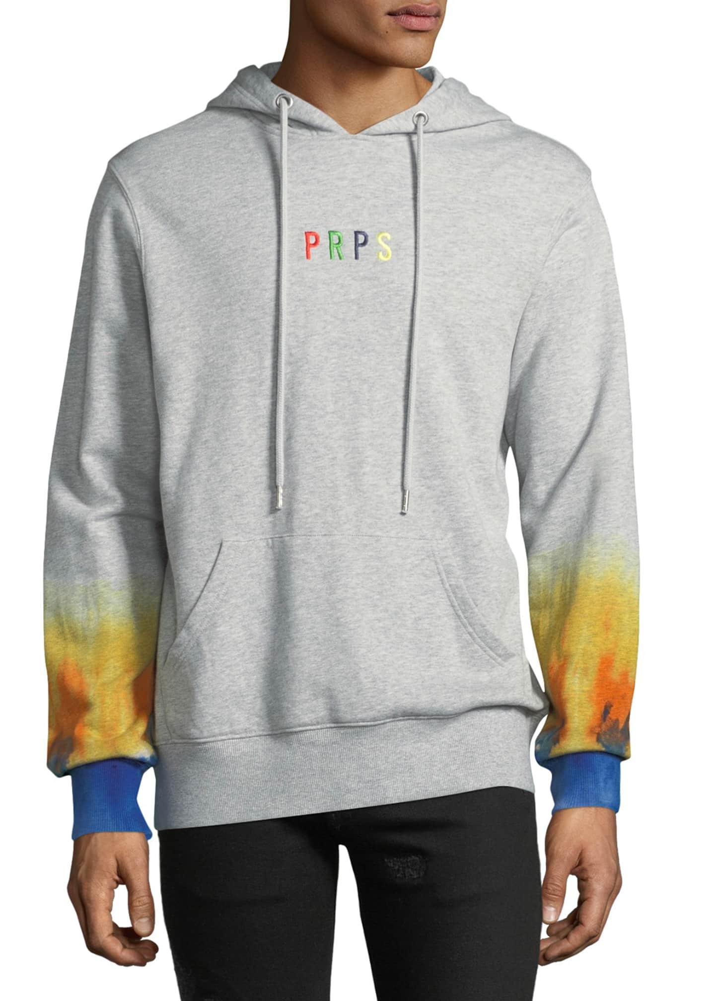 PRPS Men's Hoodie Fleece Pullover Sweater with Rainbow