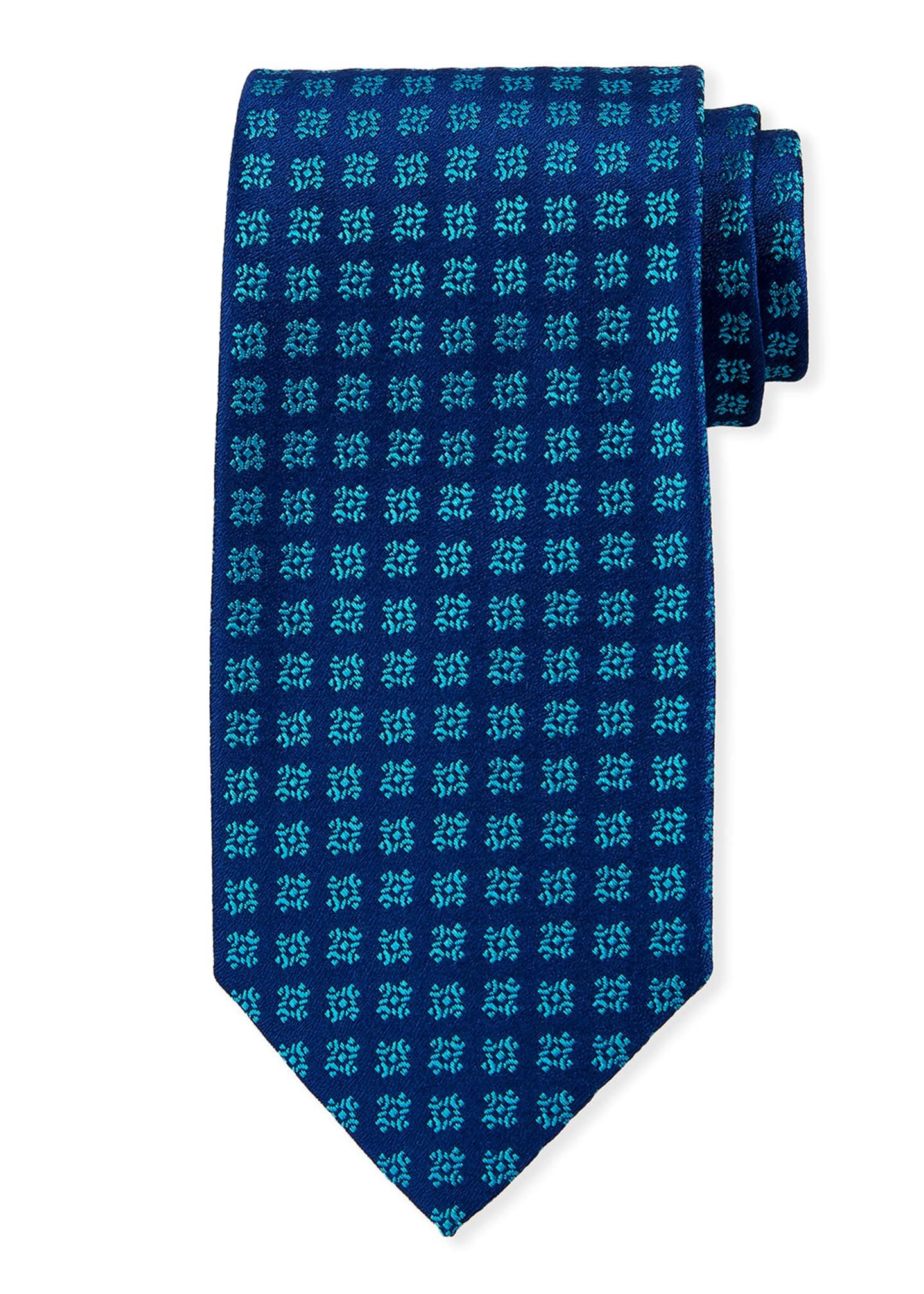 Charvet Snowflakes Silk Tie