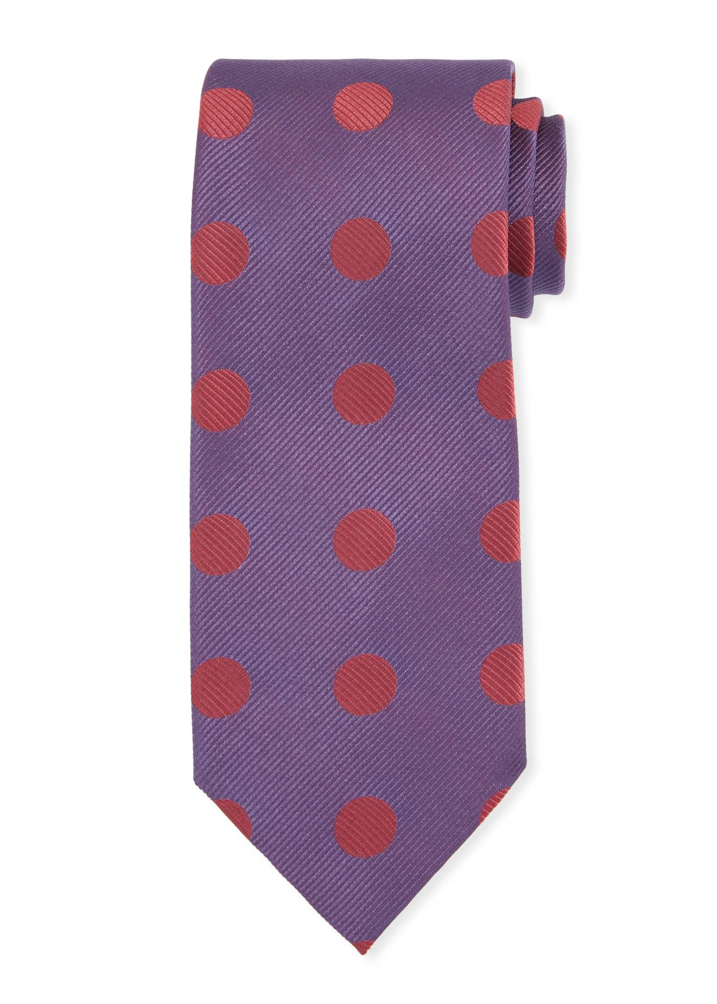 Image 1 of 1: Large Polka-Dot Silk Tie