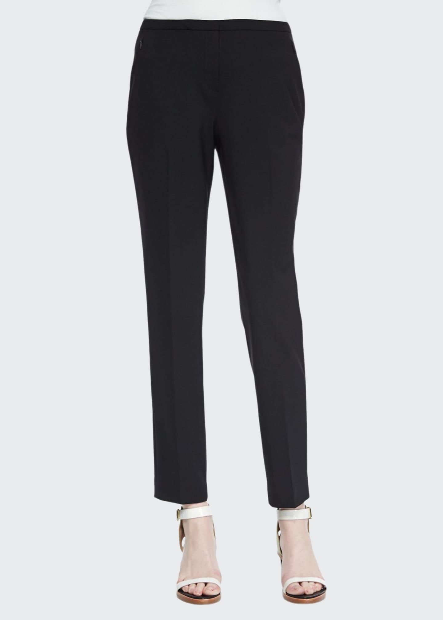 Elie Tahari Jillian Slim Wool Pants, Black